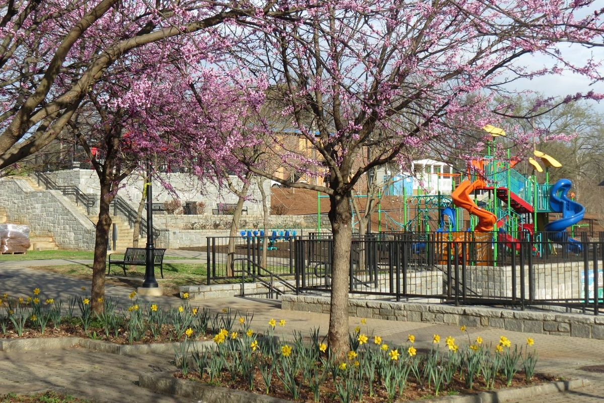 Images of the revitalized Vine City Park in Atlanta.