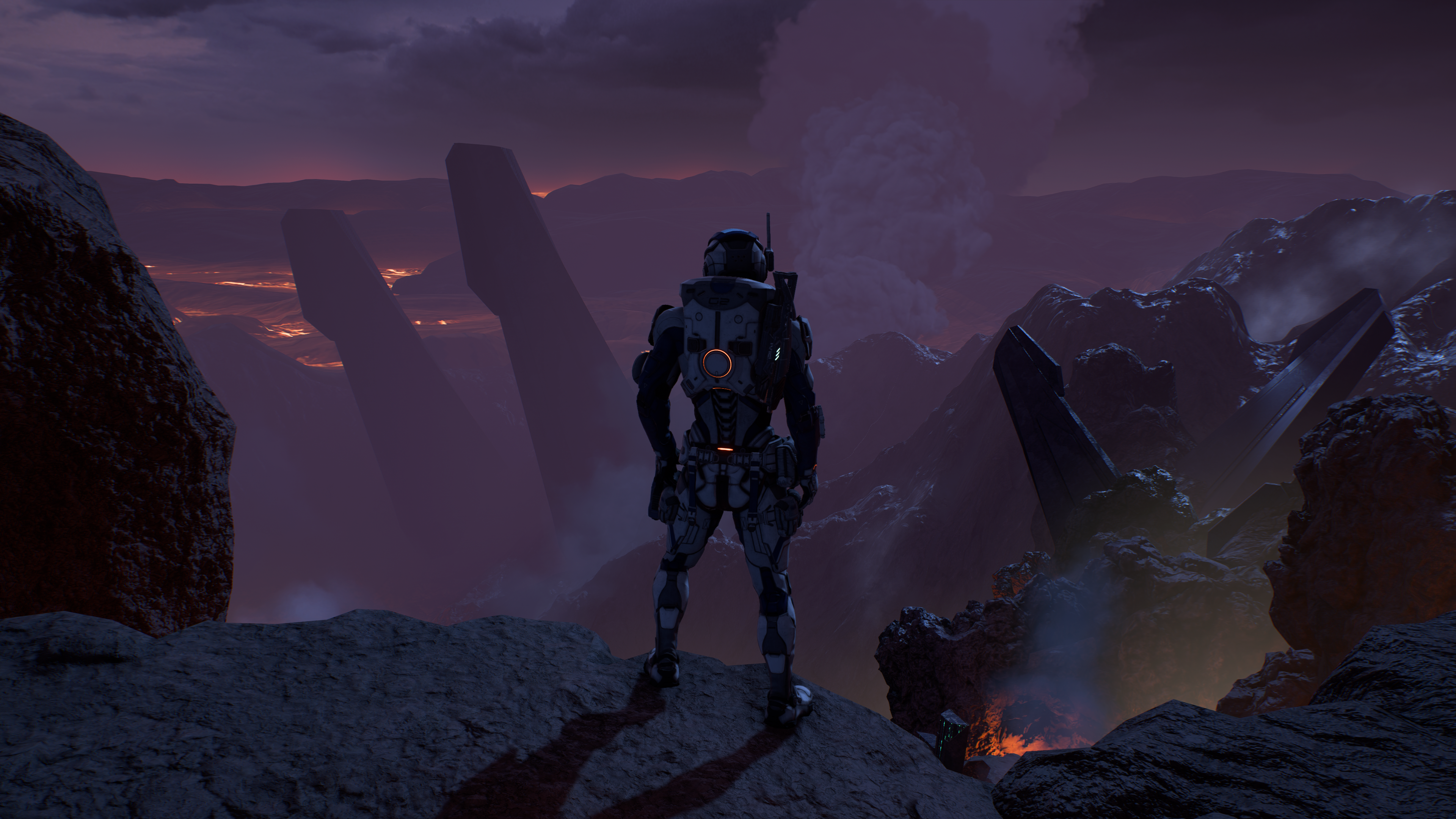 Mass Effect: Andromeda - standing on a cliff