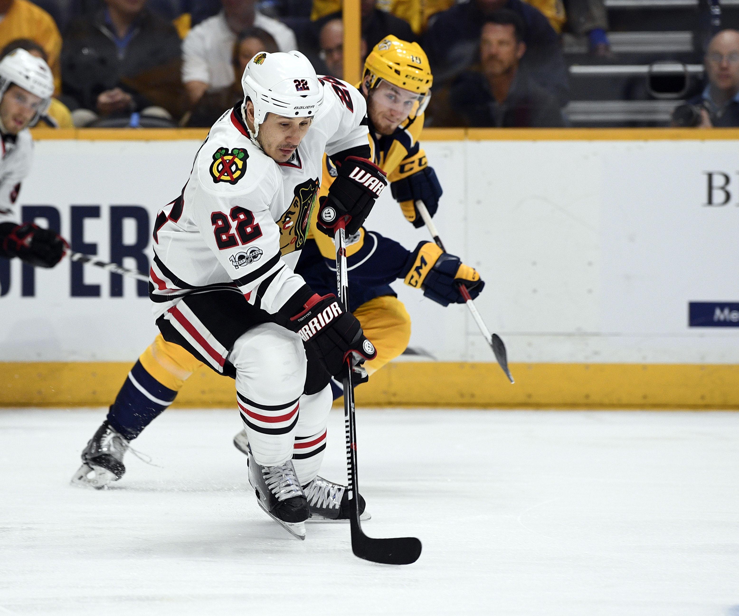 NHL: Stanley Cup Playoffs-Chicago Blackhawks at Nashville Predators