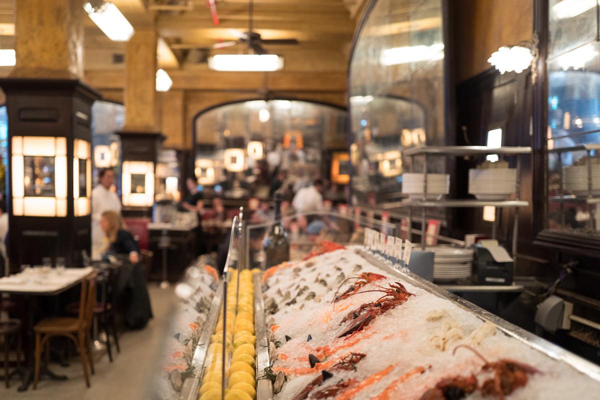 Balthazar's seafood station