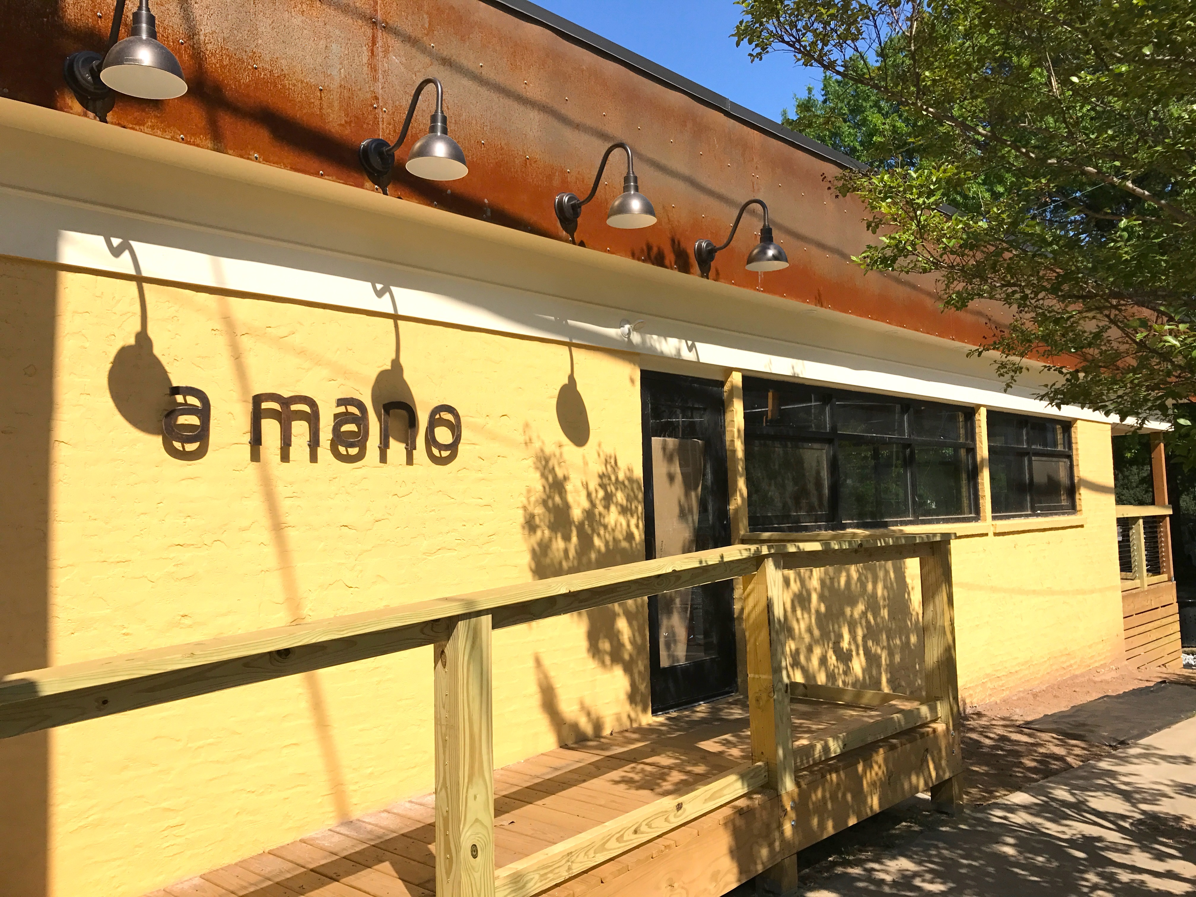 Exterior shot of A Mano in Old Fourth Ward