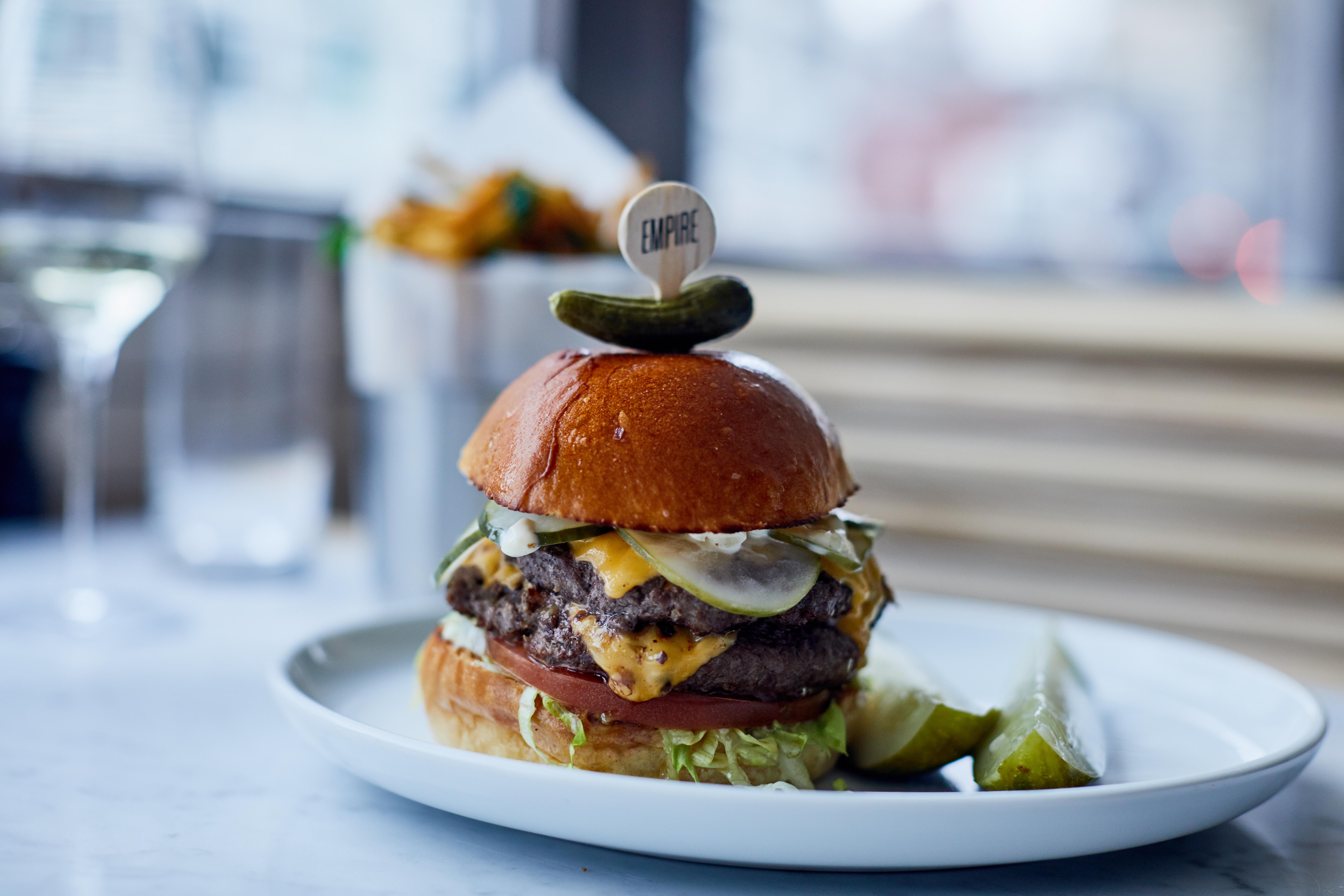 Empire Diner burger