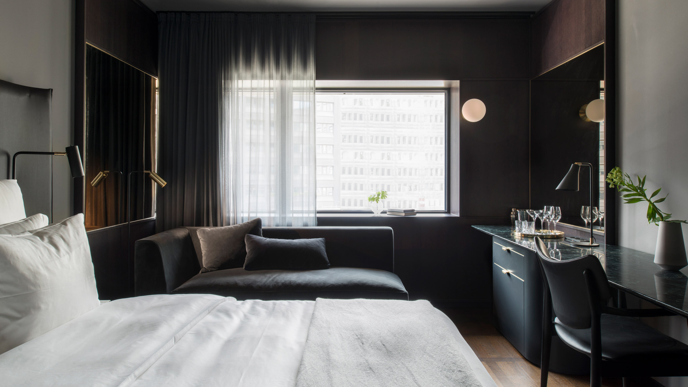 70s Brutalist high rise becomes swanky hotel in Stockholm. Interior Design   Curbed