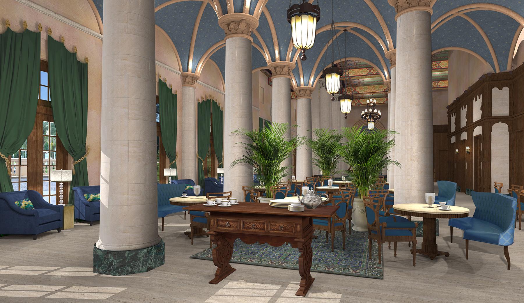 Rendering of The Biltmore Hotel's updated lobby
