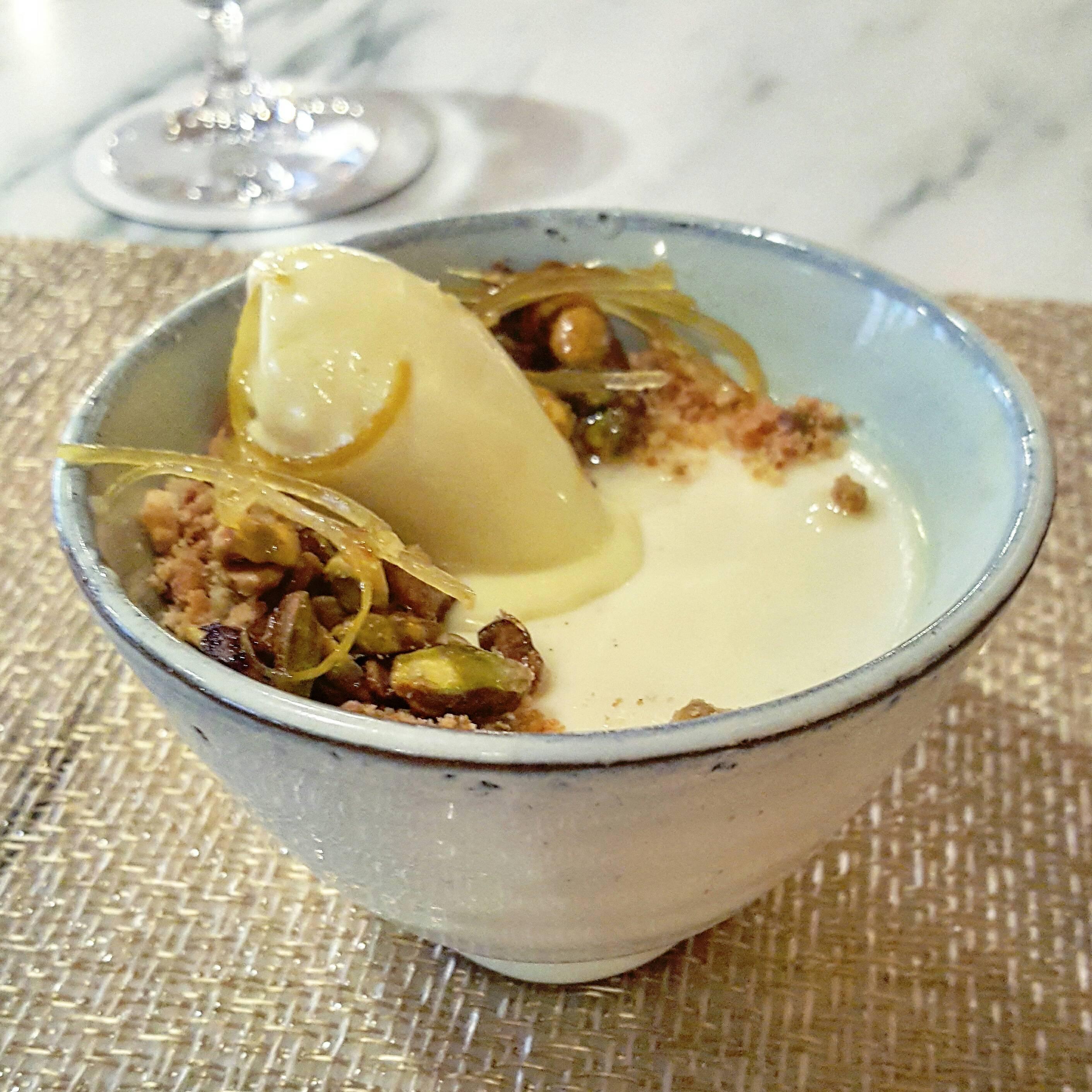 Lemon posset at Les Sablons