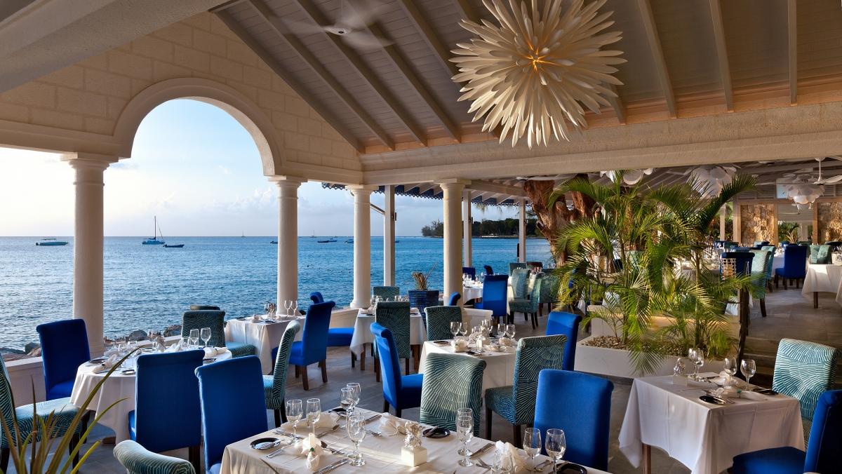 Tides dining room in Barbados