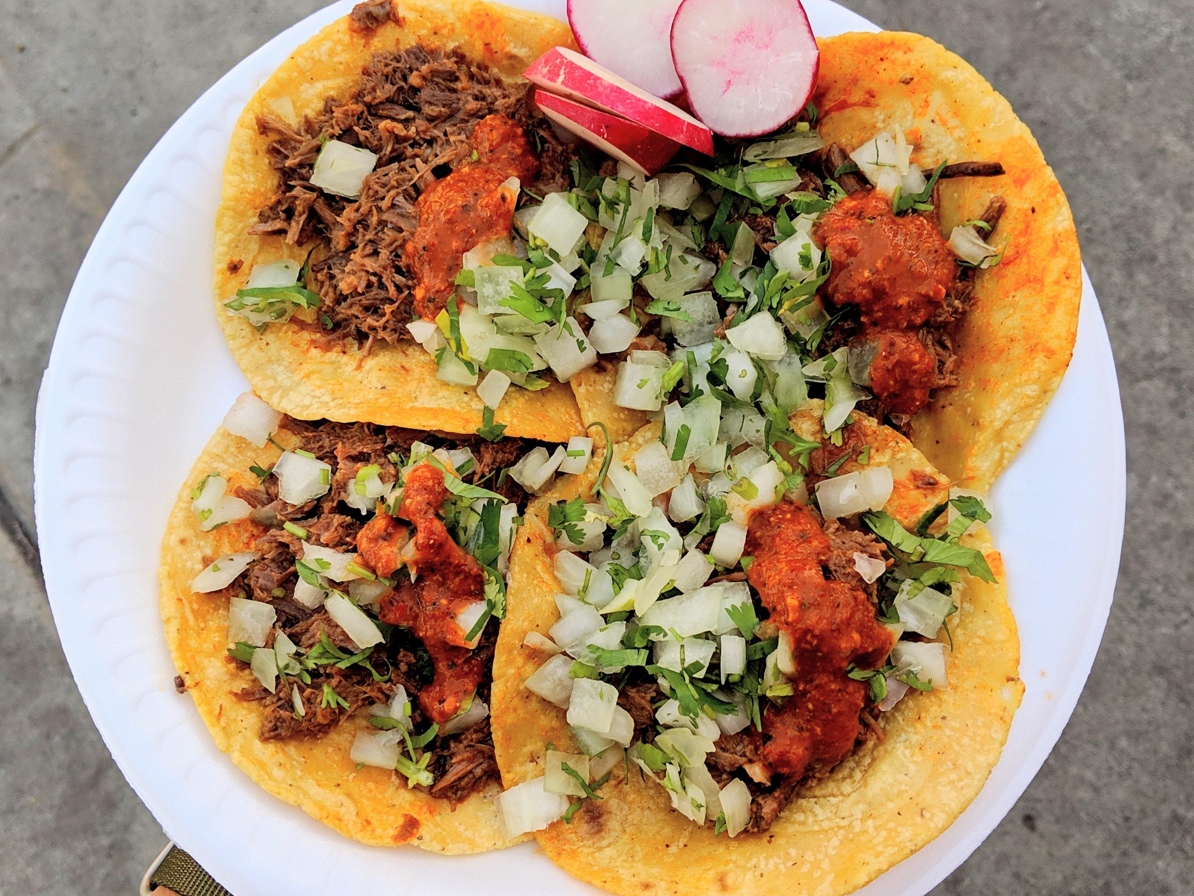 Birria de res tacos from La Unica