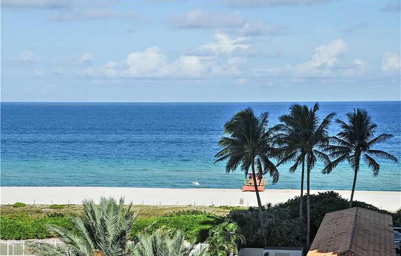 A direct ocean view in miami beach