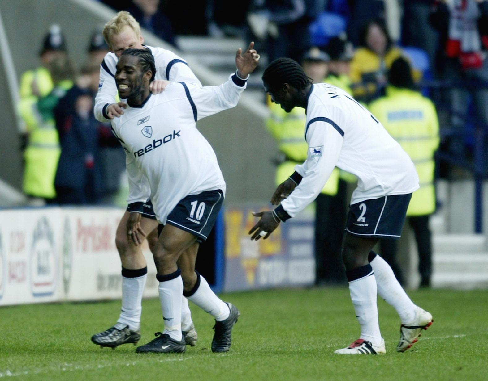Okocha celebrates scoring their first goal