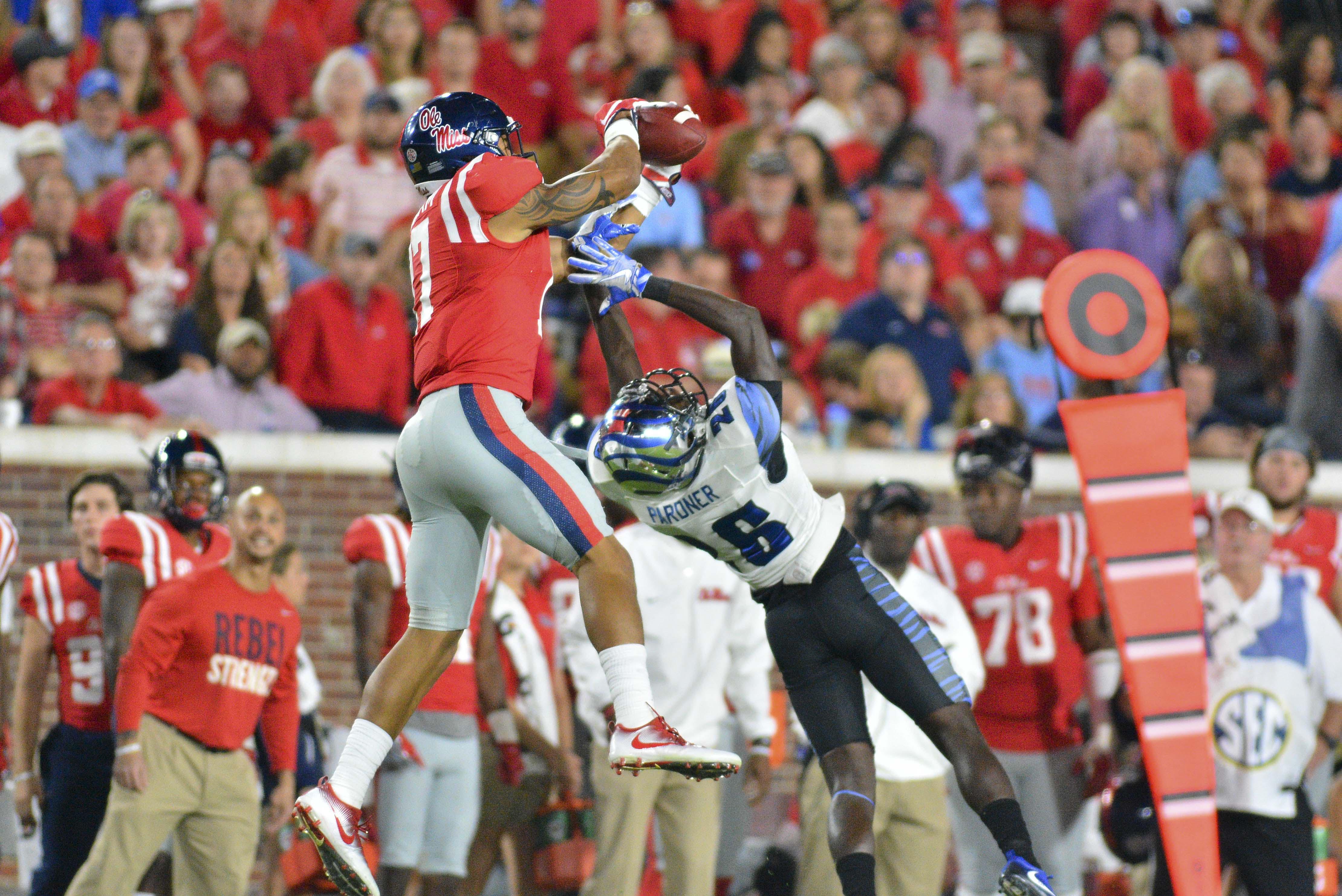 NCAA Football: Memphis at Mississippi