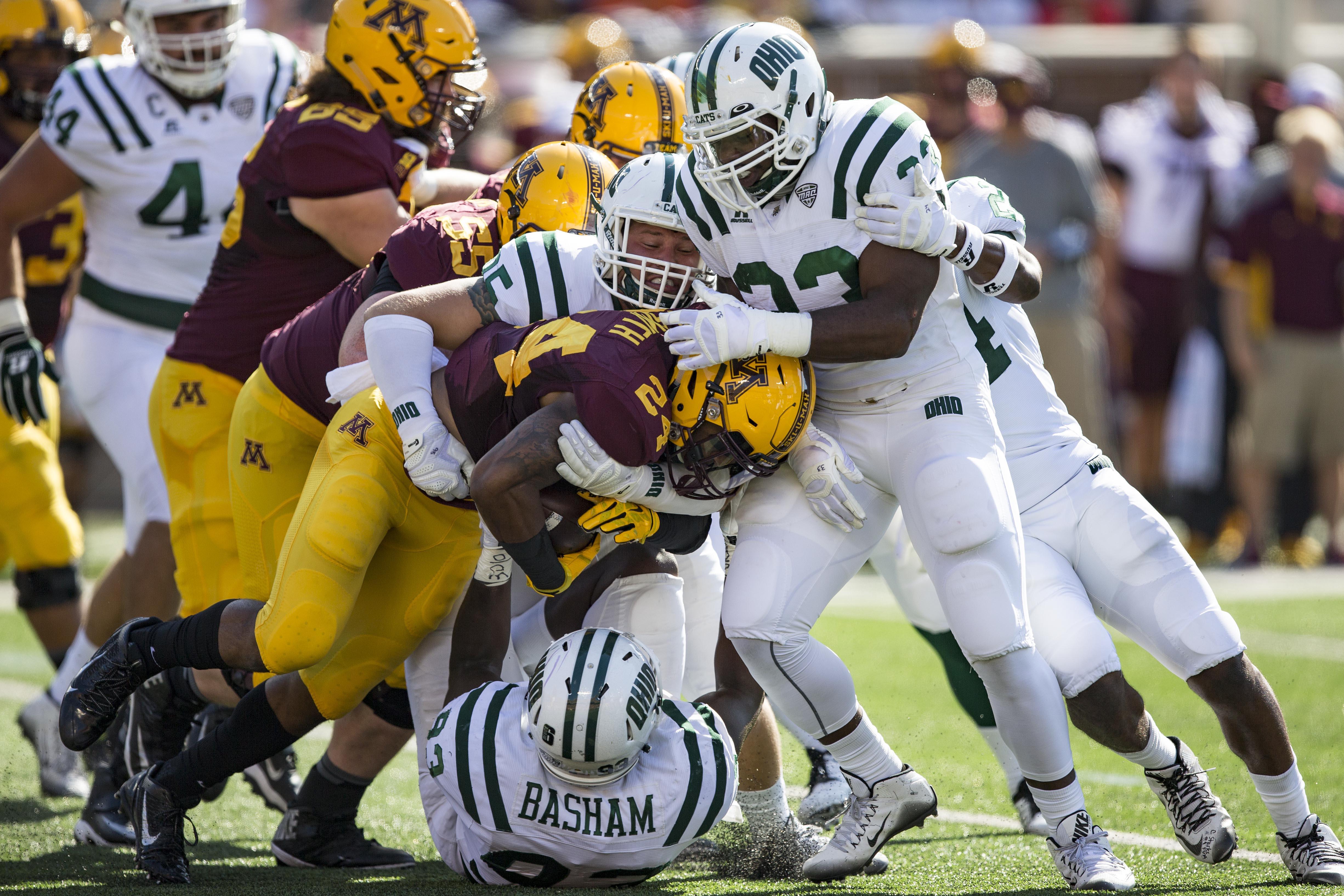 NCAA Football: Ohio at Minnesota