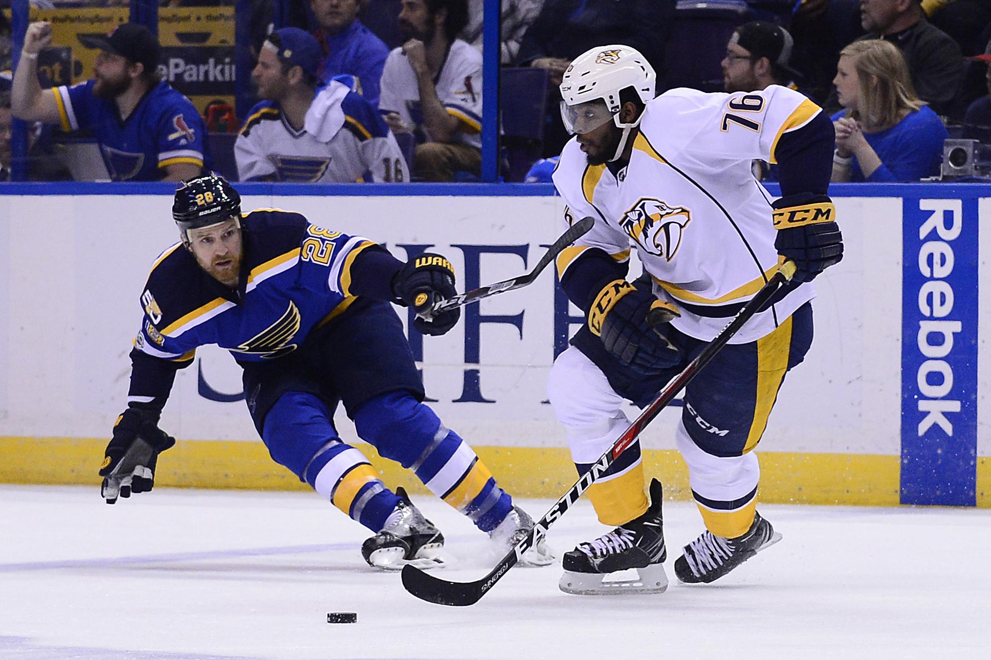 NHL: Stanley Cup Playoffs-Nashville Predators at St. Louis Blues