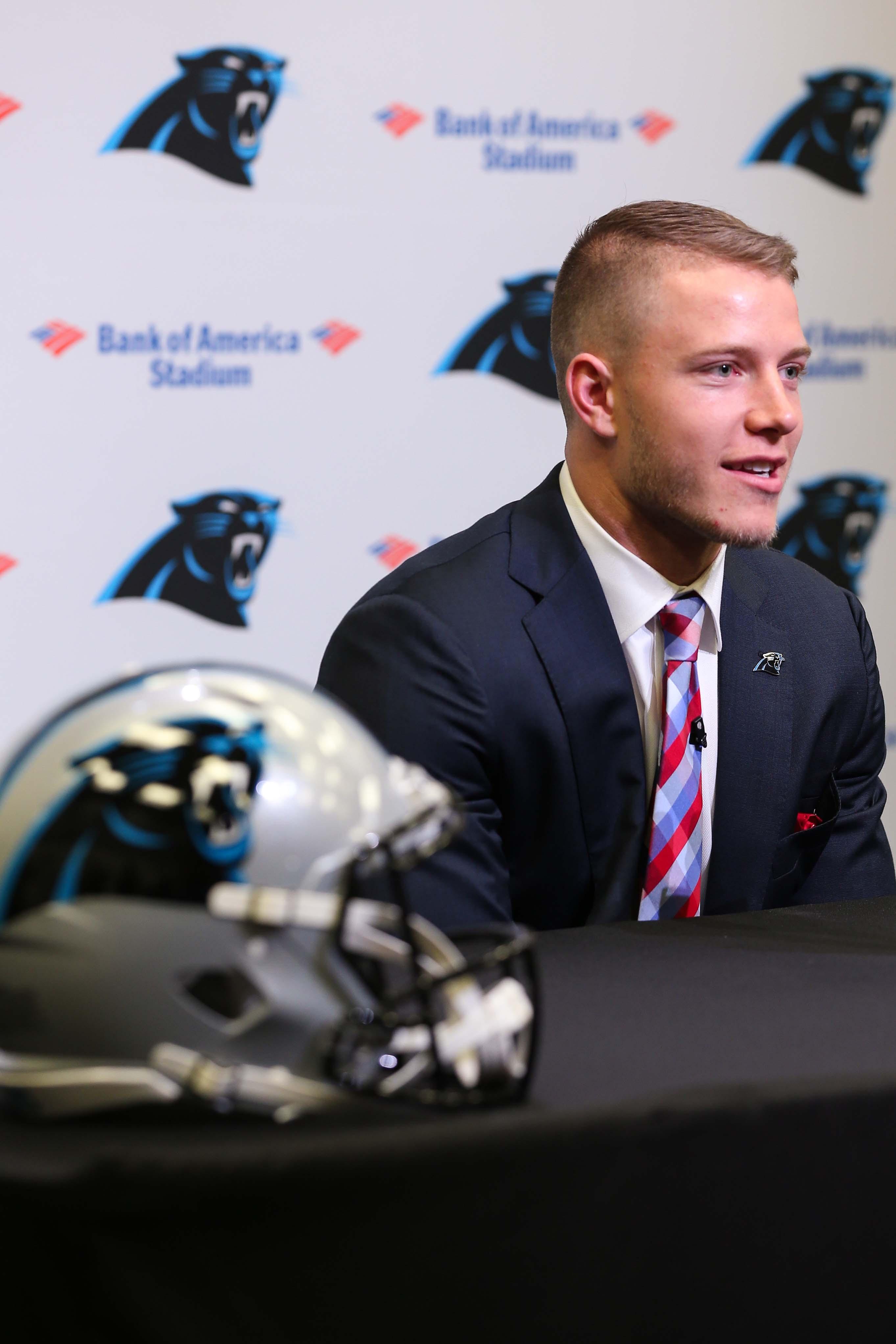 NFL: Carolina Panthers-Christian McCaffrey Press Conference