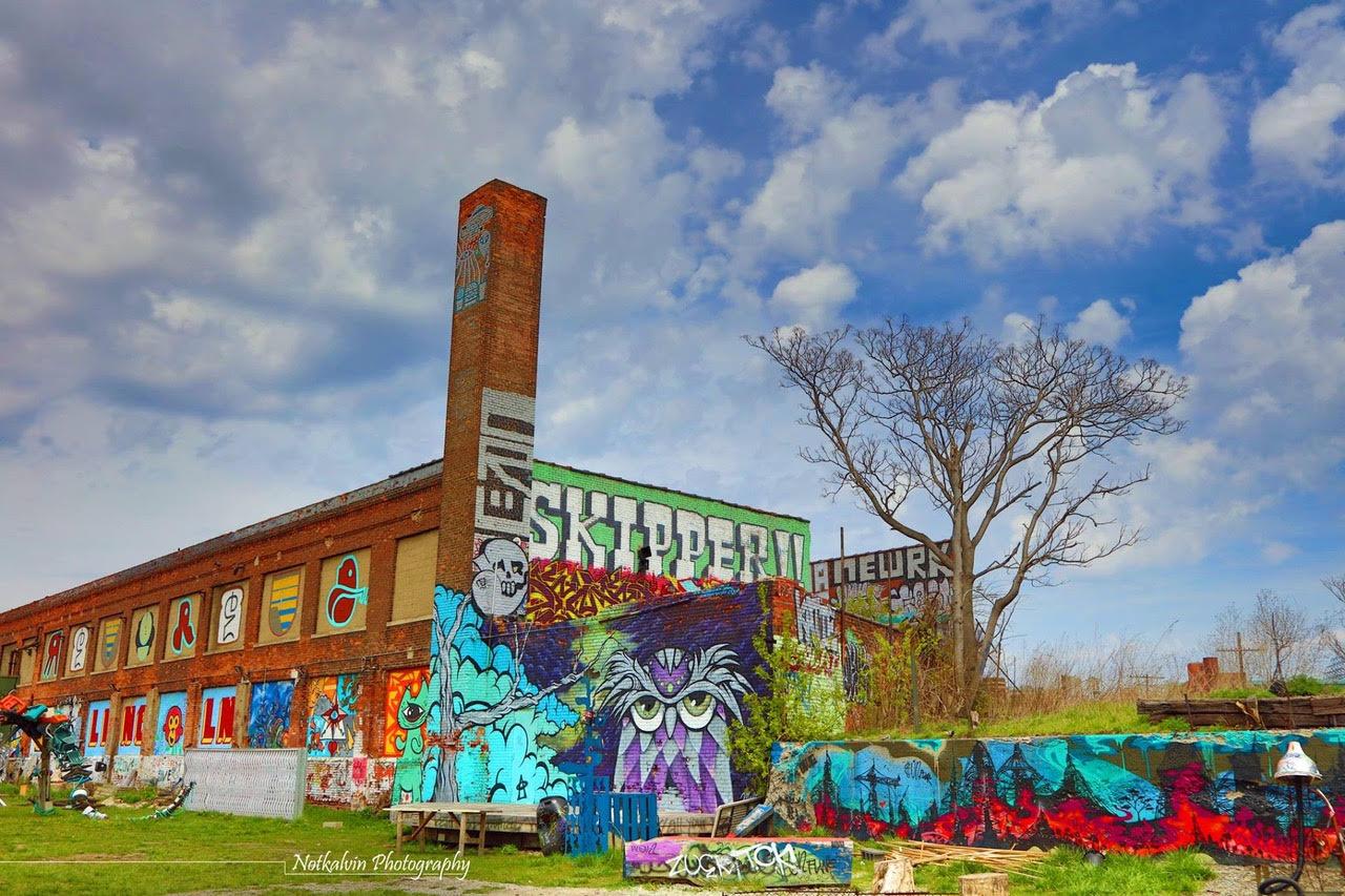 Detroit public art curbed detroit for Detroit mural factory
