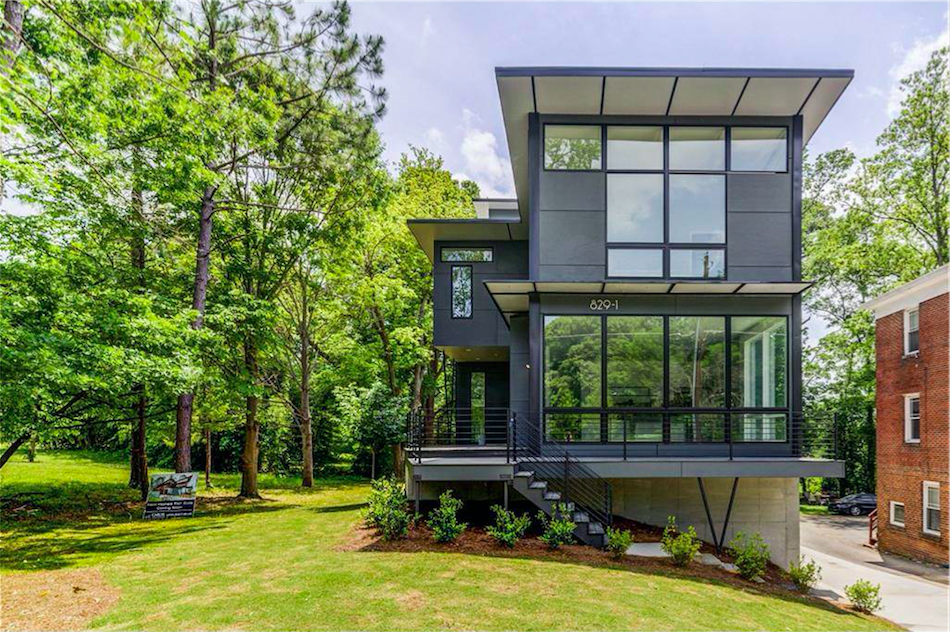 A new modern house in Poncey-Highland up the hill from Ponce City Market.