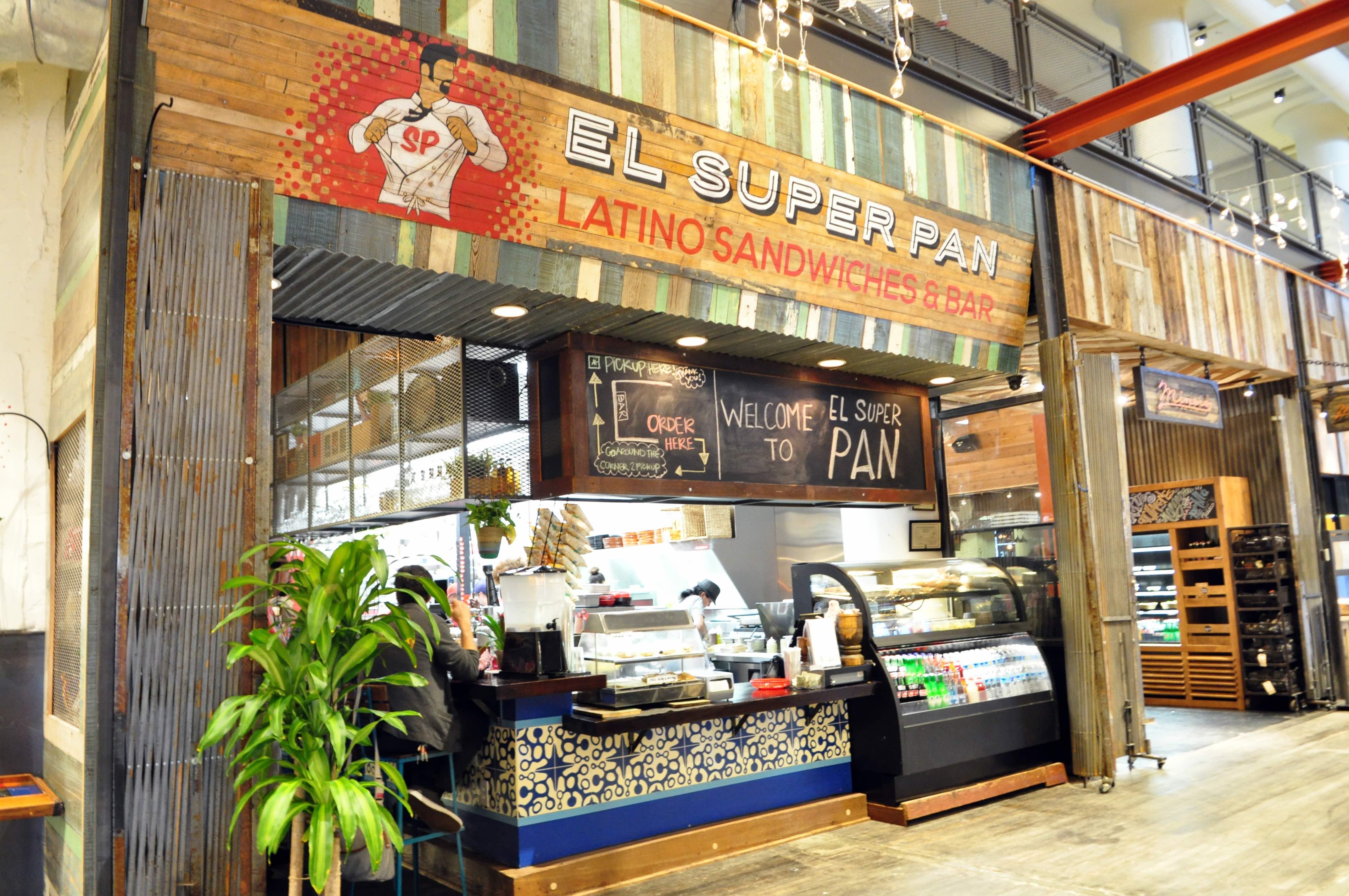 Exterior shot of El Super Pan in Ponce City Market.