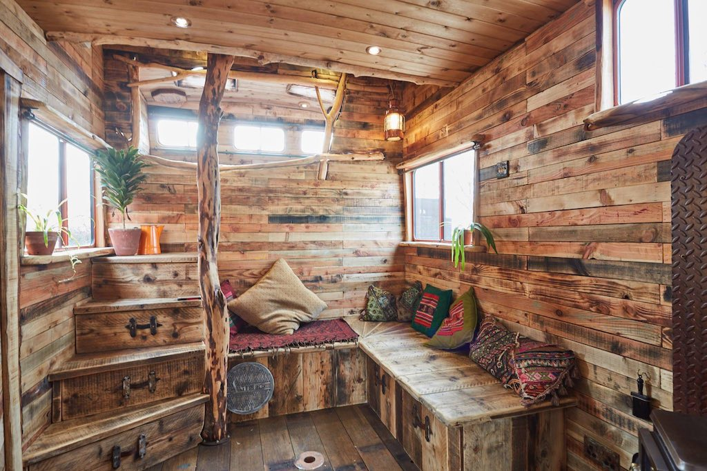 Rustic house truck converted from horsebox