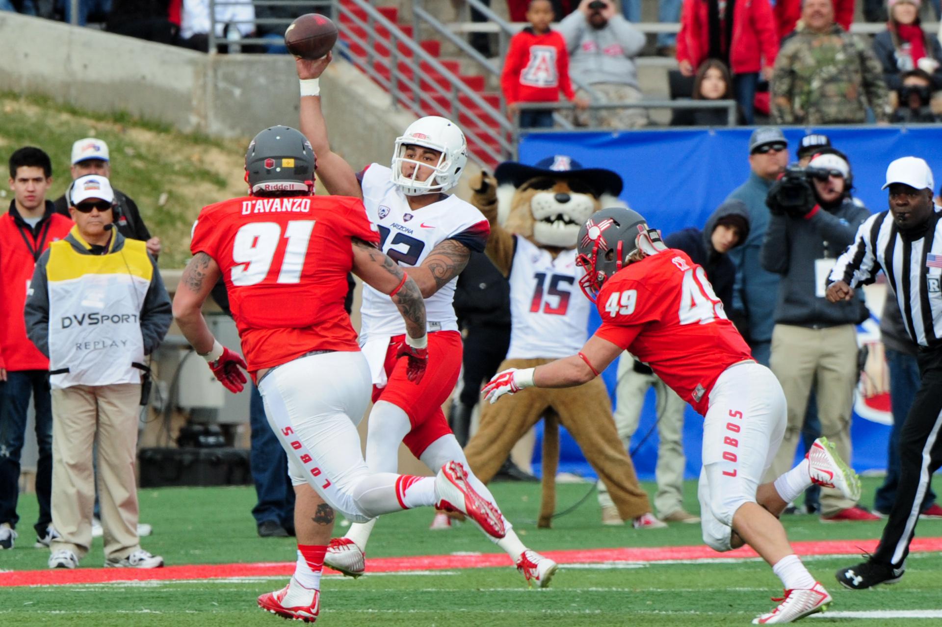 NCAA Football: Gildan New Mexico Bowl-Arizona vs New Mexico