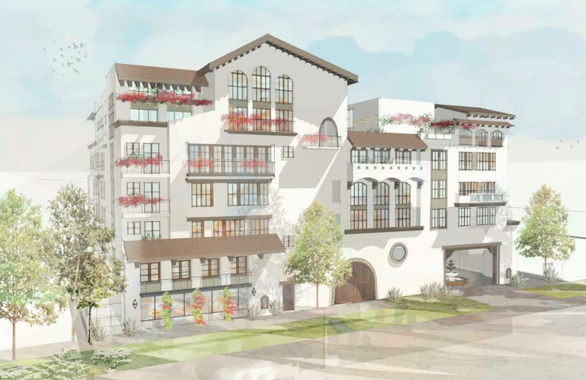 Rendering of Spanish-style apartments