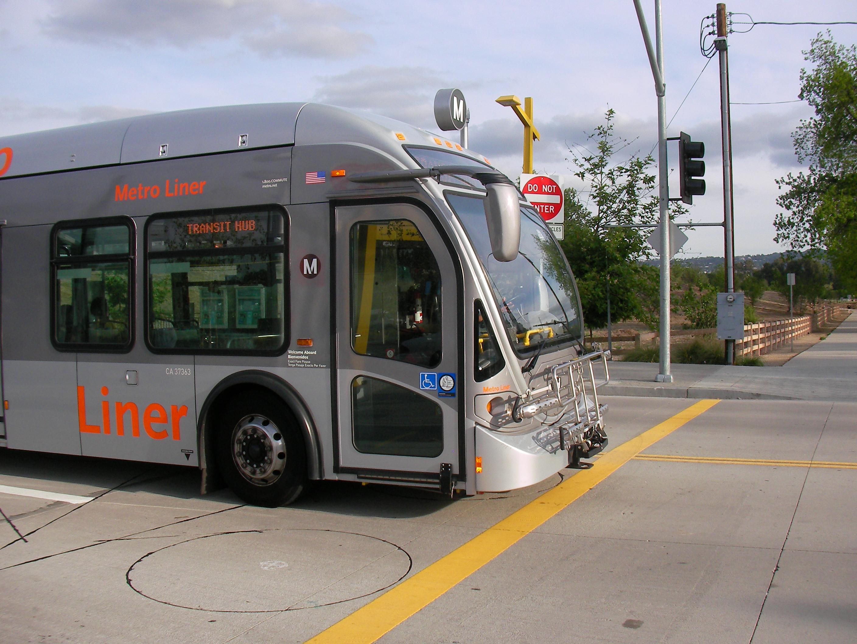 Orange Line bus at intersection