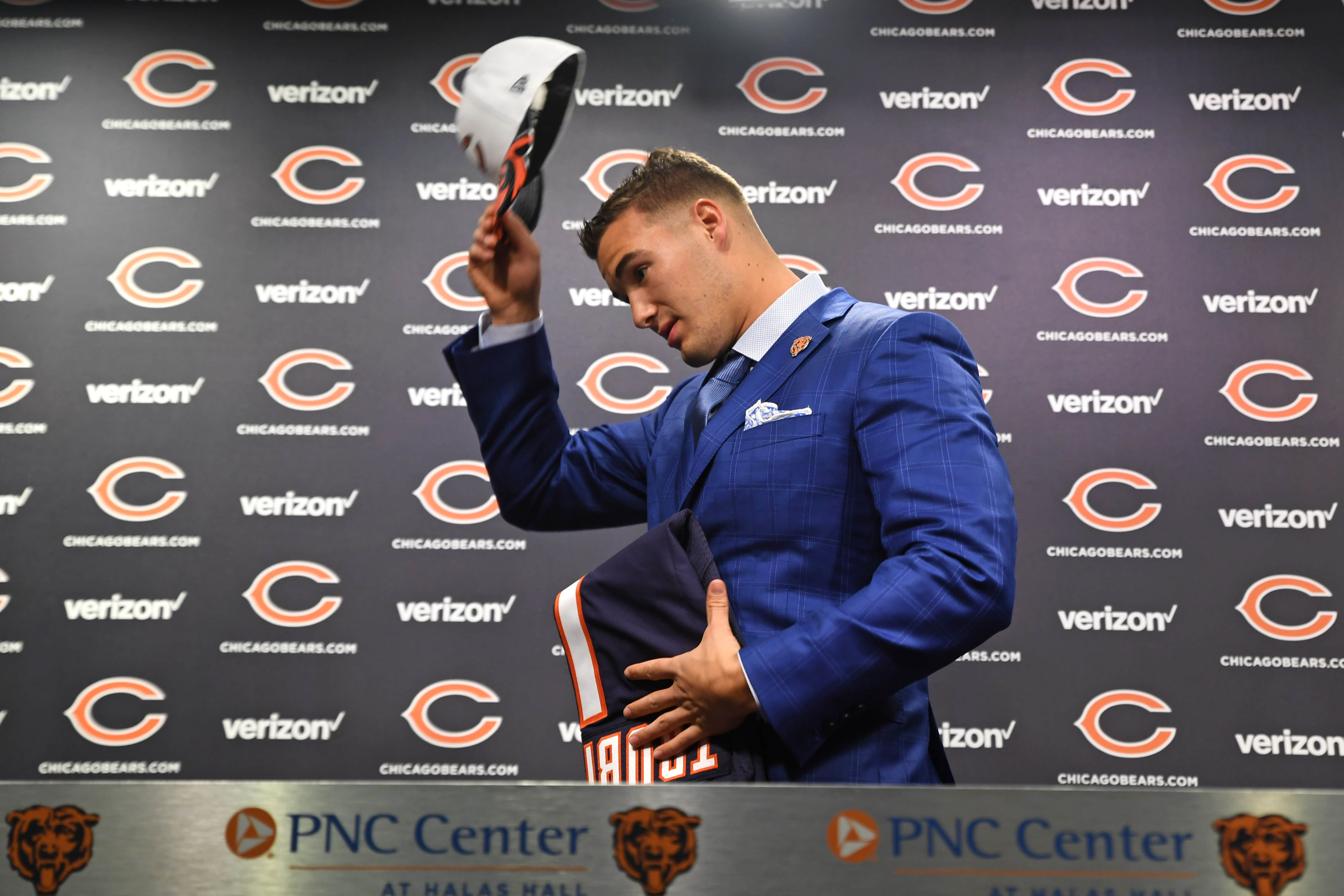 NFL: Chicago Bears-Mitchell Trubisky Press Conference