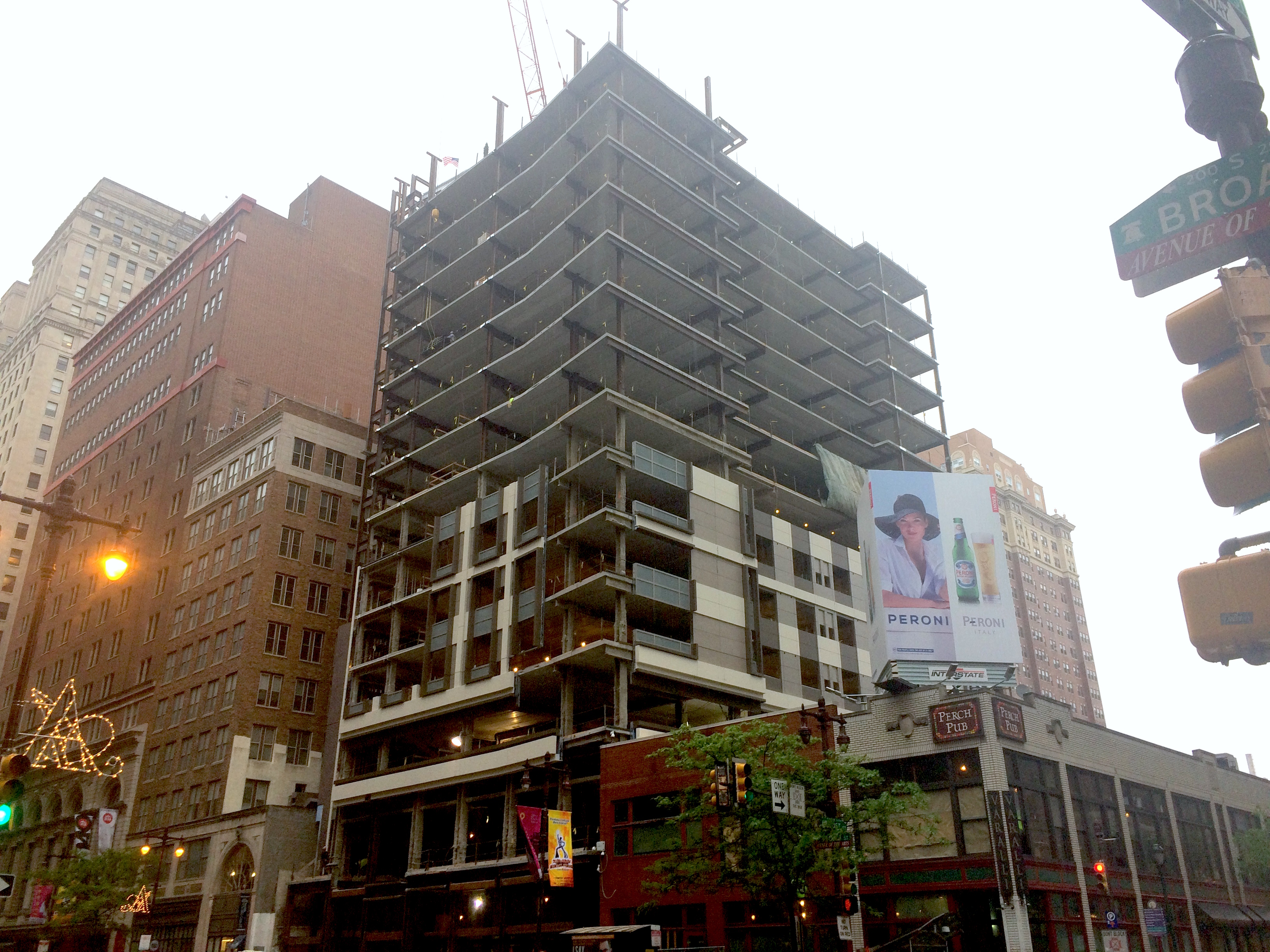 15 Story Cambria Hotel On South Broad Tops Off