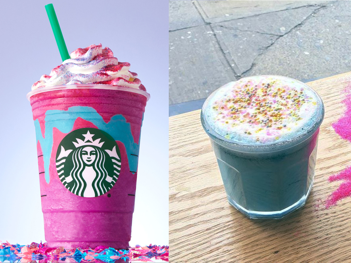 Starbucks's version, left, and The End's, right