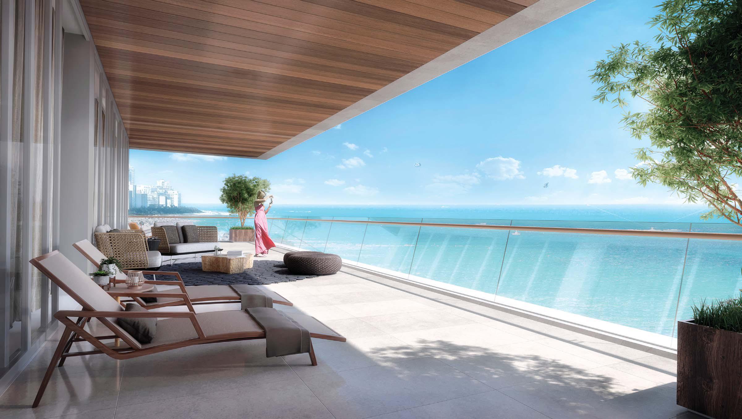 Rendering of a planned condo in Miami Beach