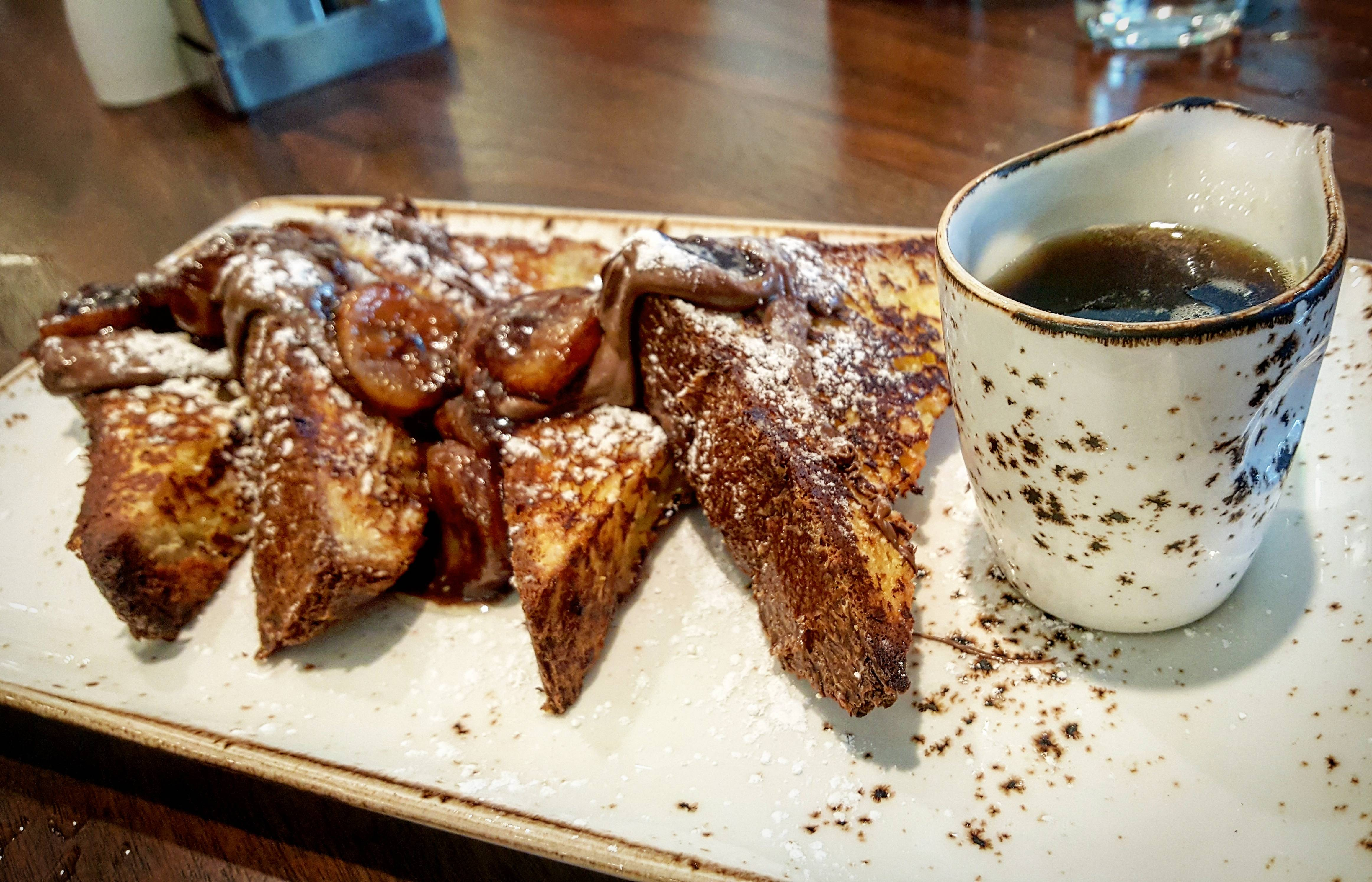 Nutella French toast at Outlook Kitchen and Bar