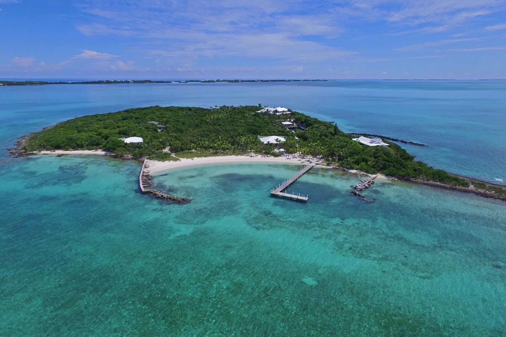 Private island with a beach