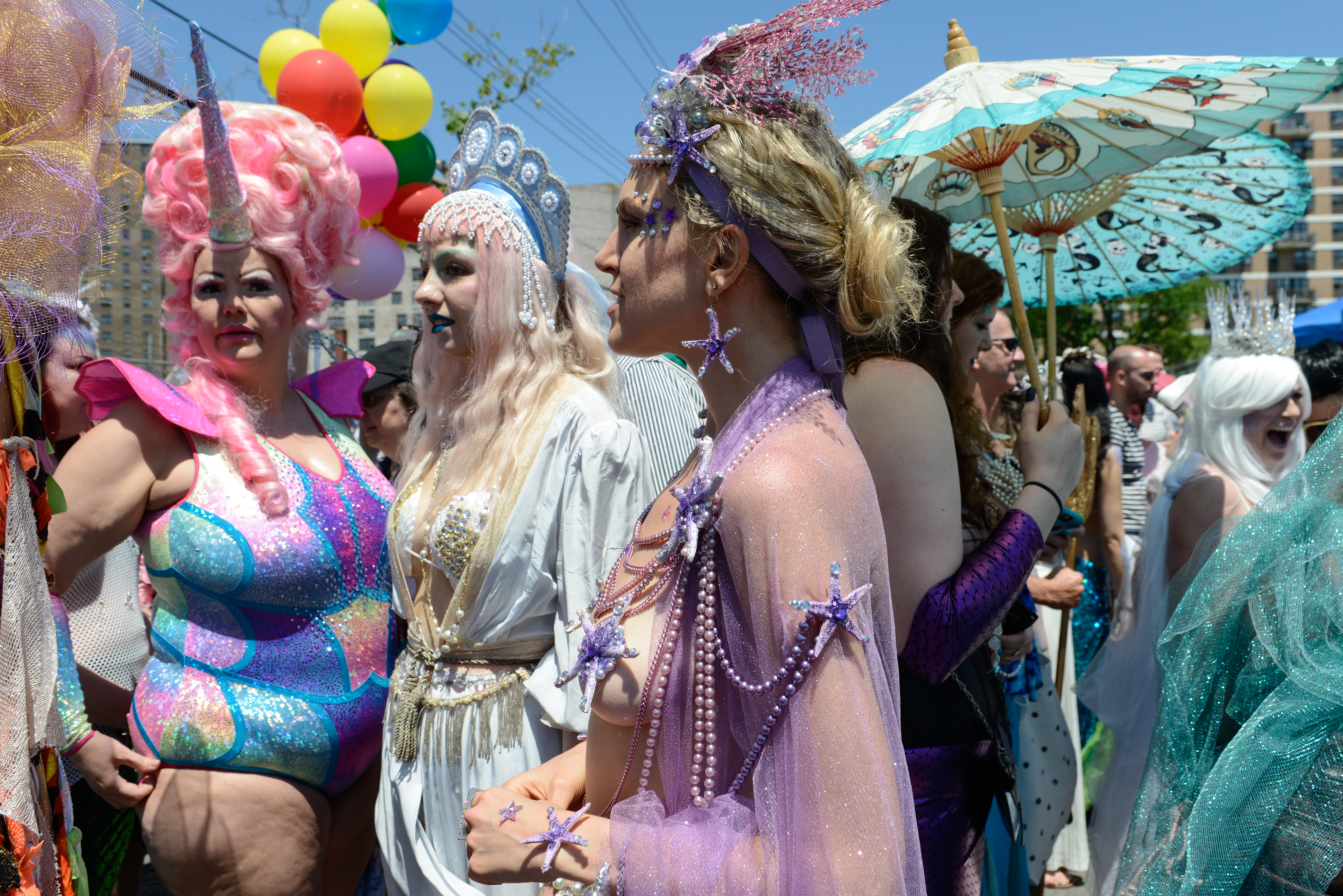 Sea Creature Themed Annual Mermaid Parade Takes Place In New York's Coney Island