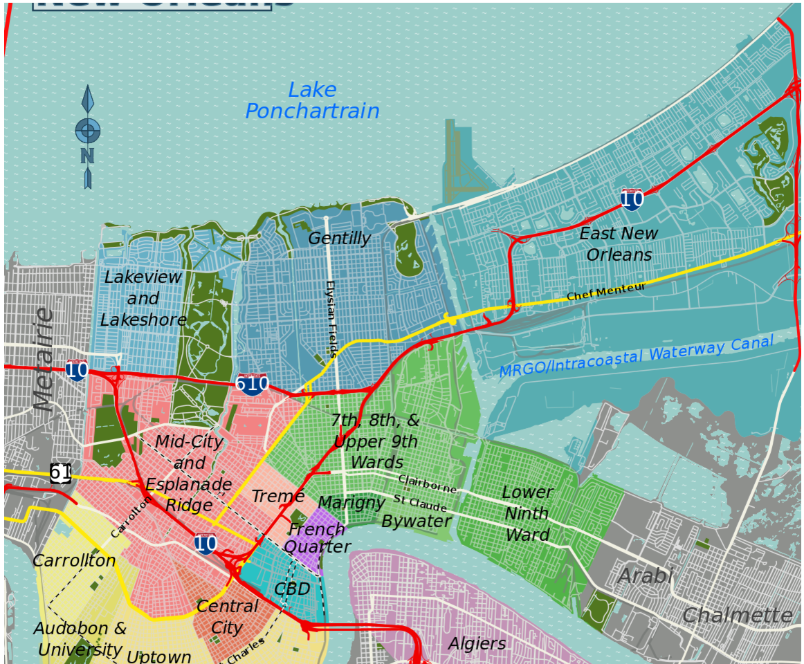 Curbed New Orleans Archives News Page - Map new orleans wards