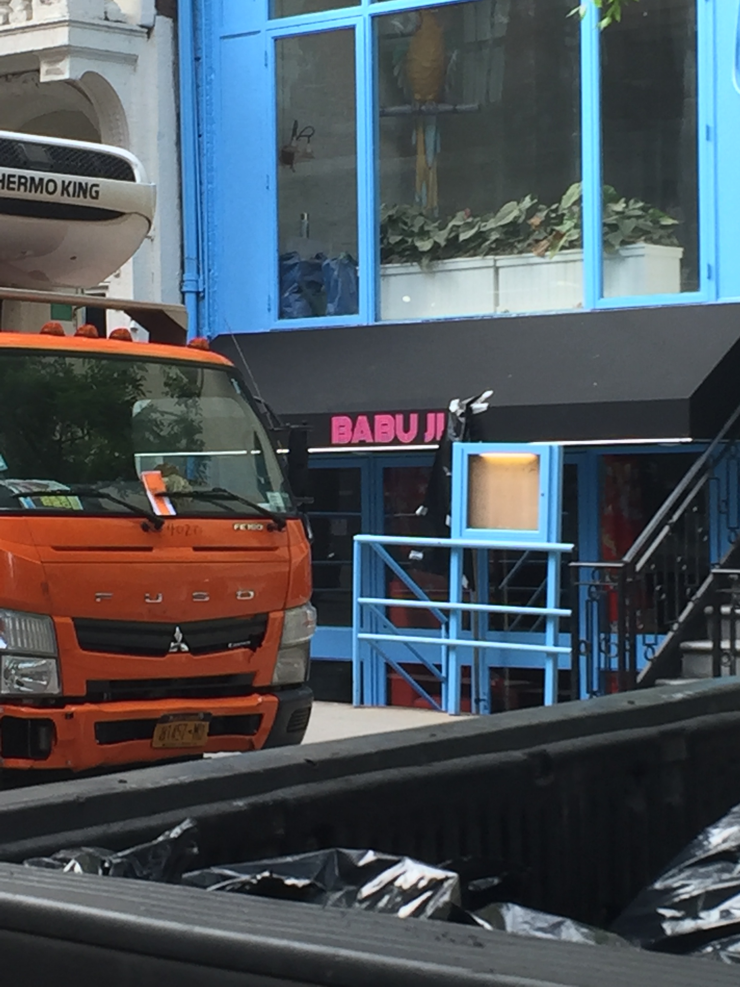 Babu Ji signage at 22 East 13th Street