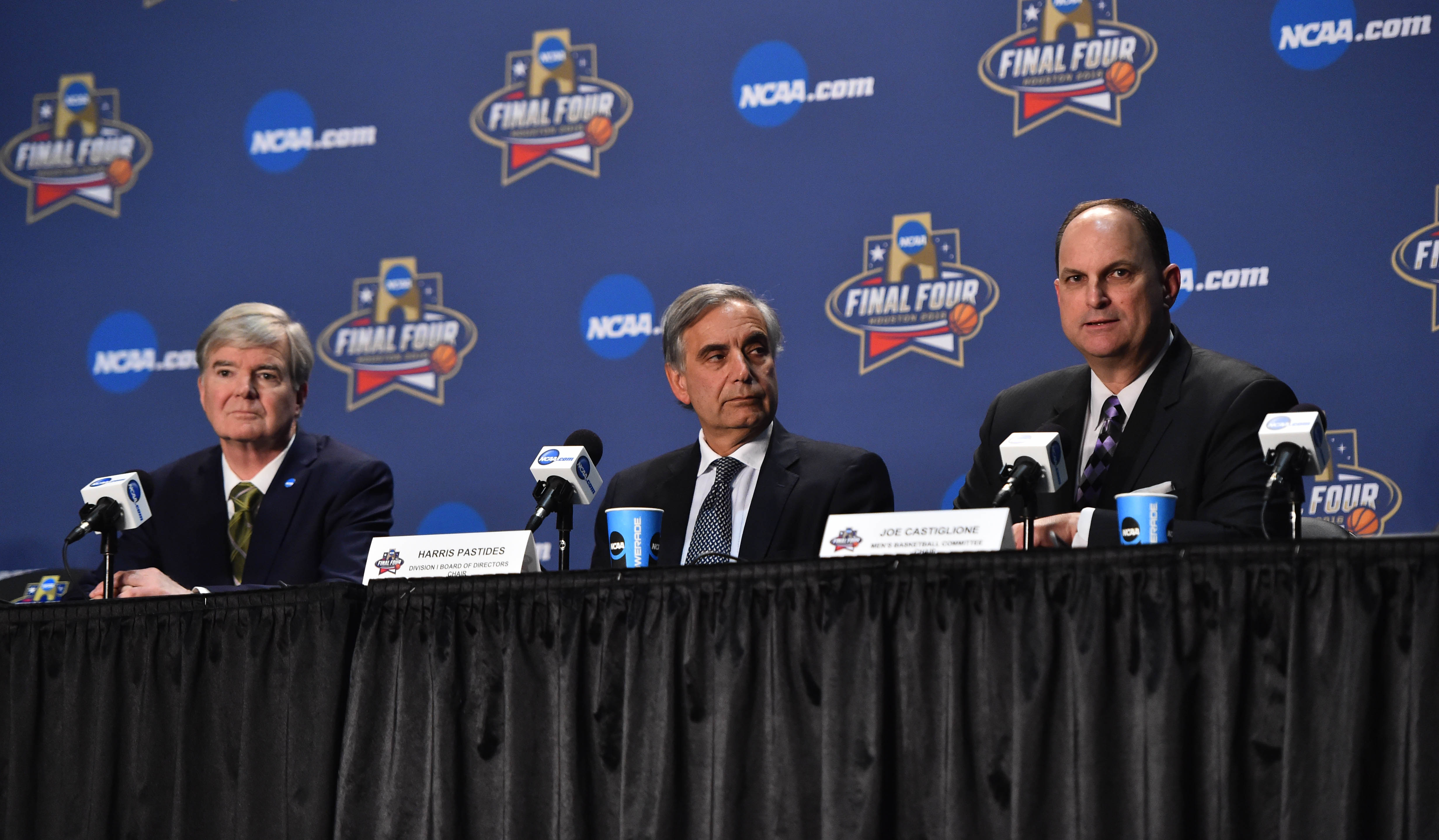 NCAA Basketball: NCAA Basketball: Final Four-Mark Emmert Press Conference