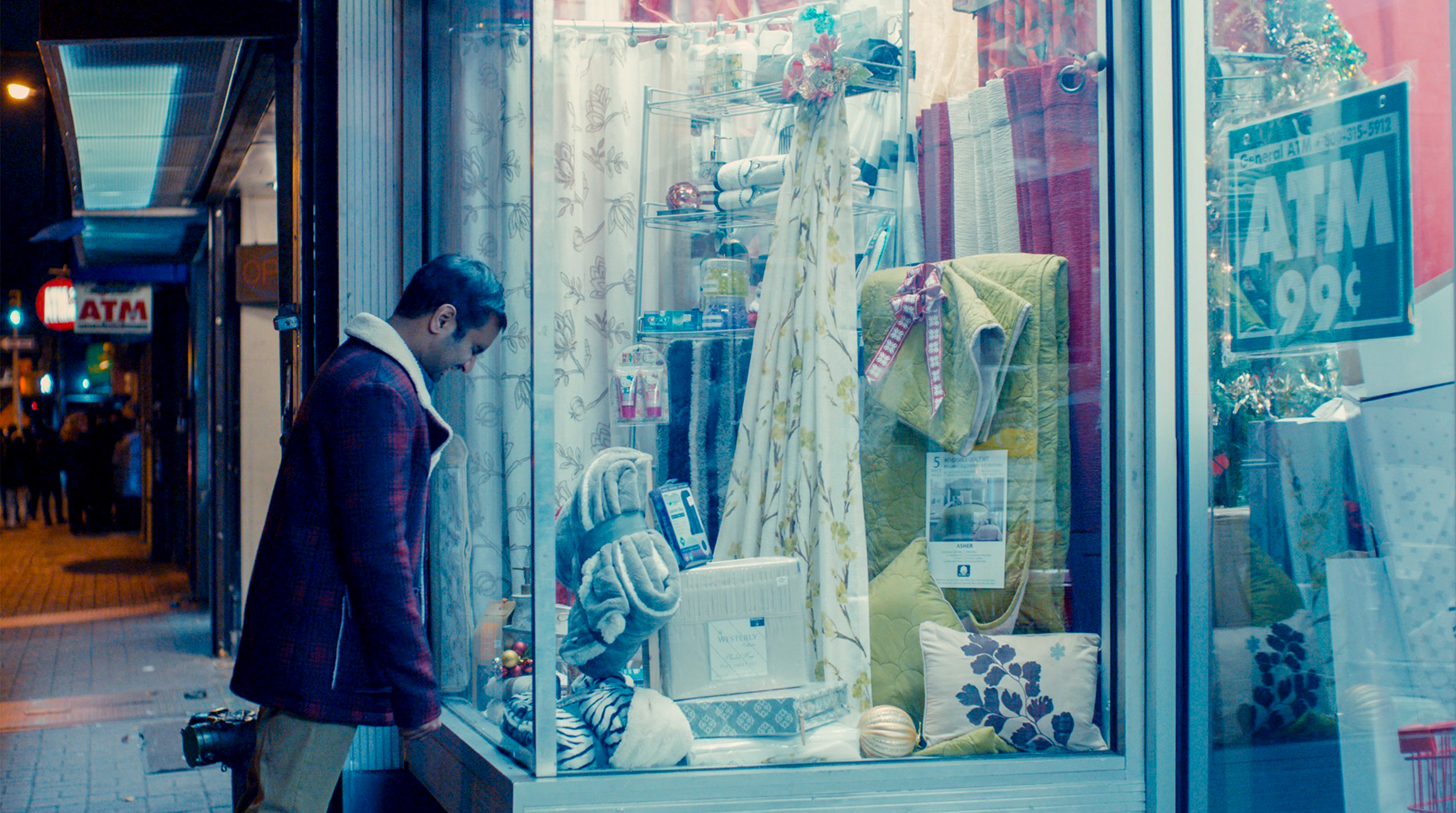 Master of None 210 - Dev bangs his head on a storefront