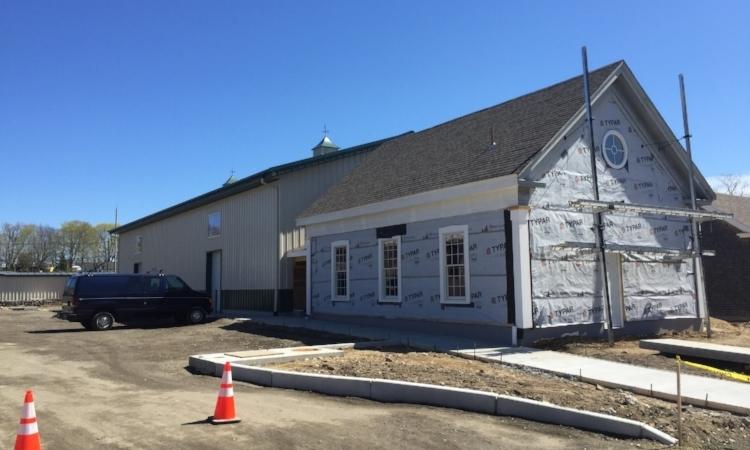 Untold Brewing construction site