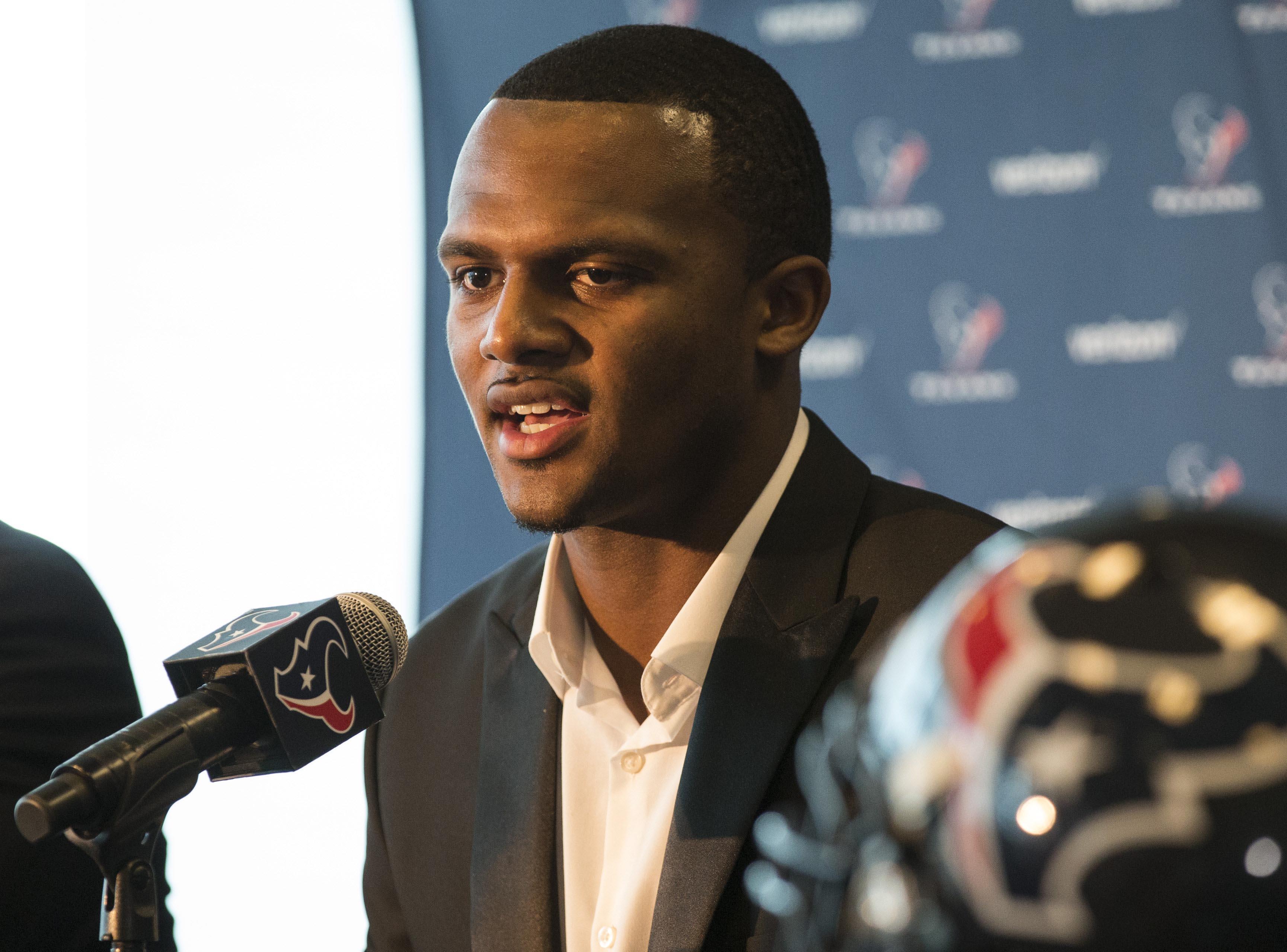 NFL: Houston Texans-Deshaun Watson Press Conference