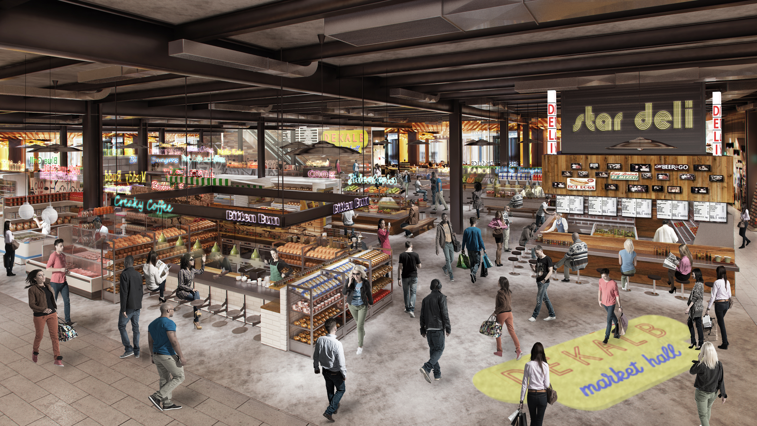 DeKalb Market Food Hall May Actually Open Next Month With an Even Hotter Line-Up