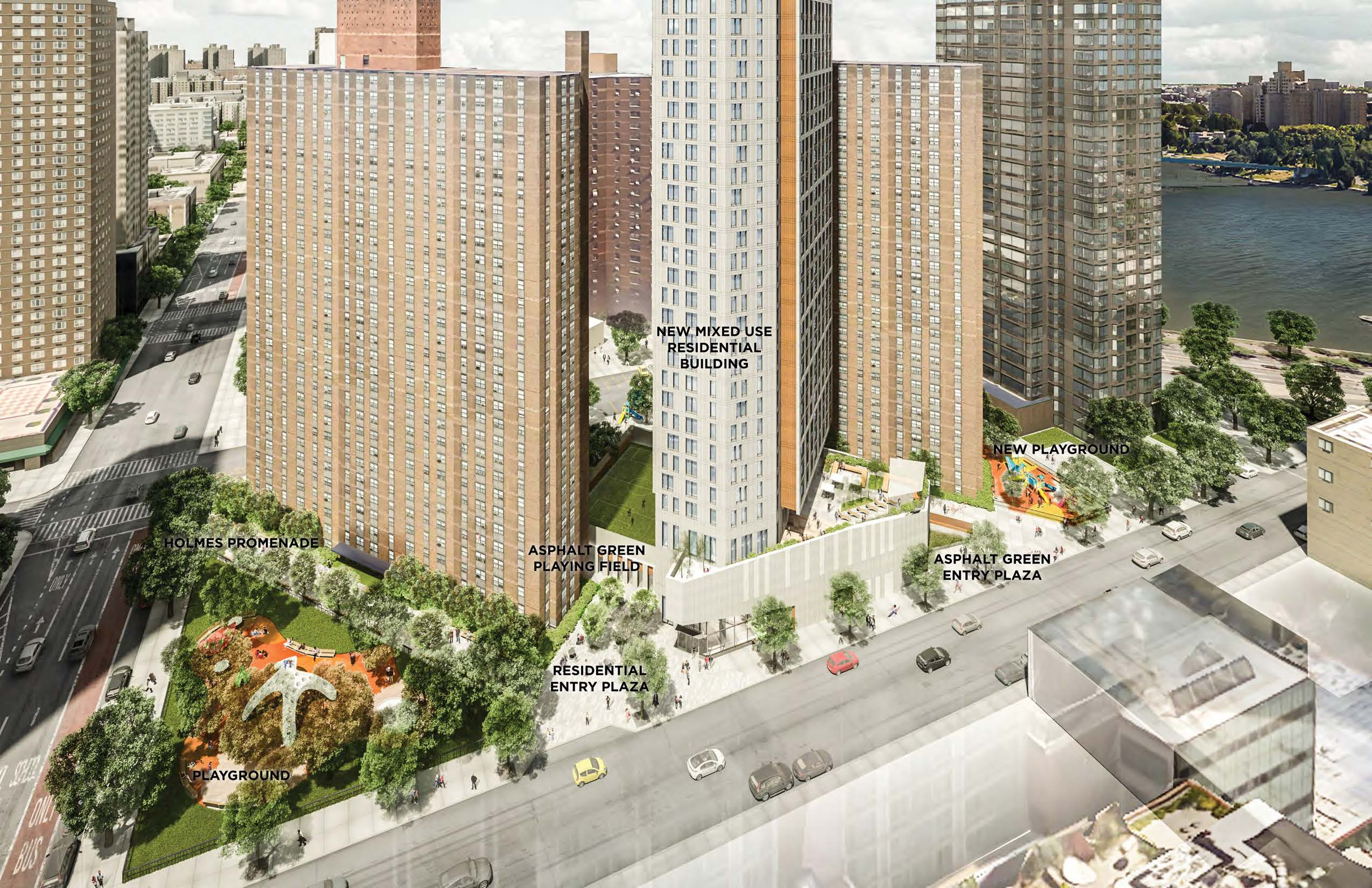Nycha Playground On The Upper East Side Will Give Way To This Mixedincome  Tower