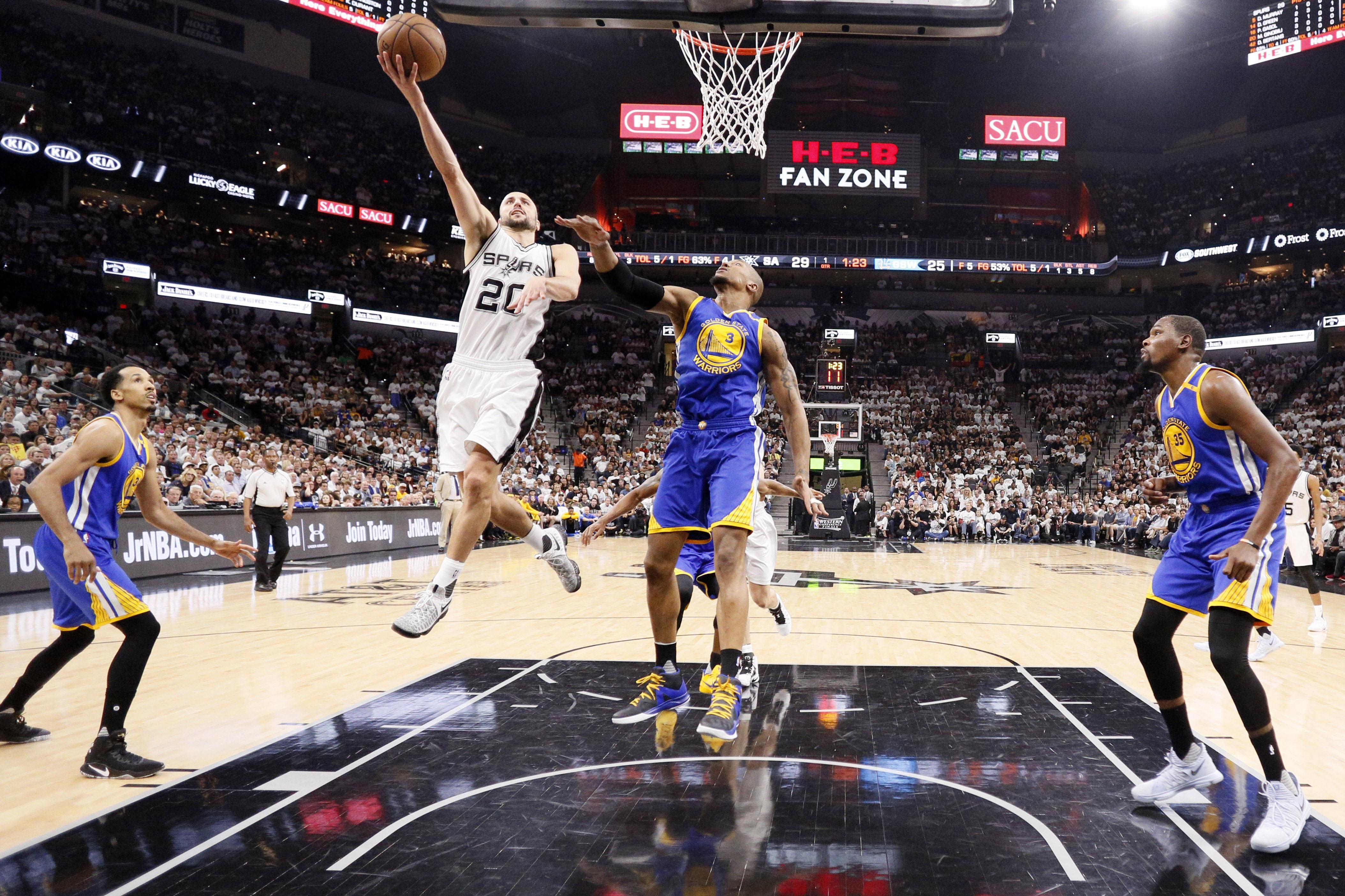 NBA: Playoffs-Golden State Warriors at San Antonio Spurs