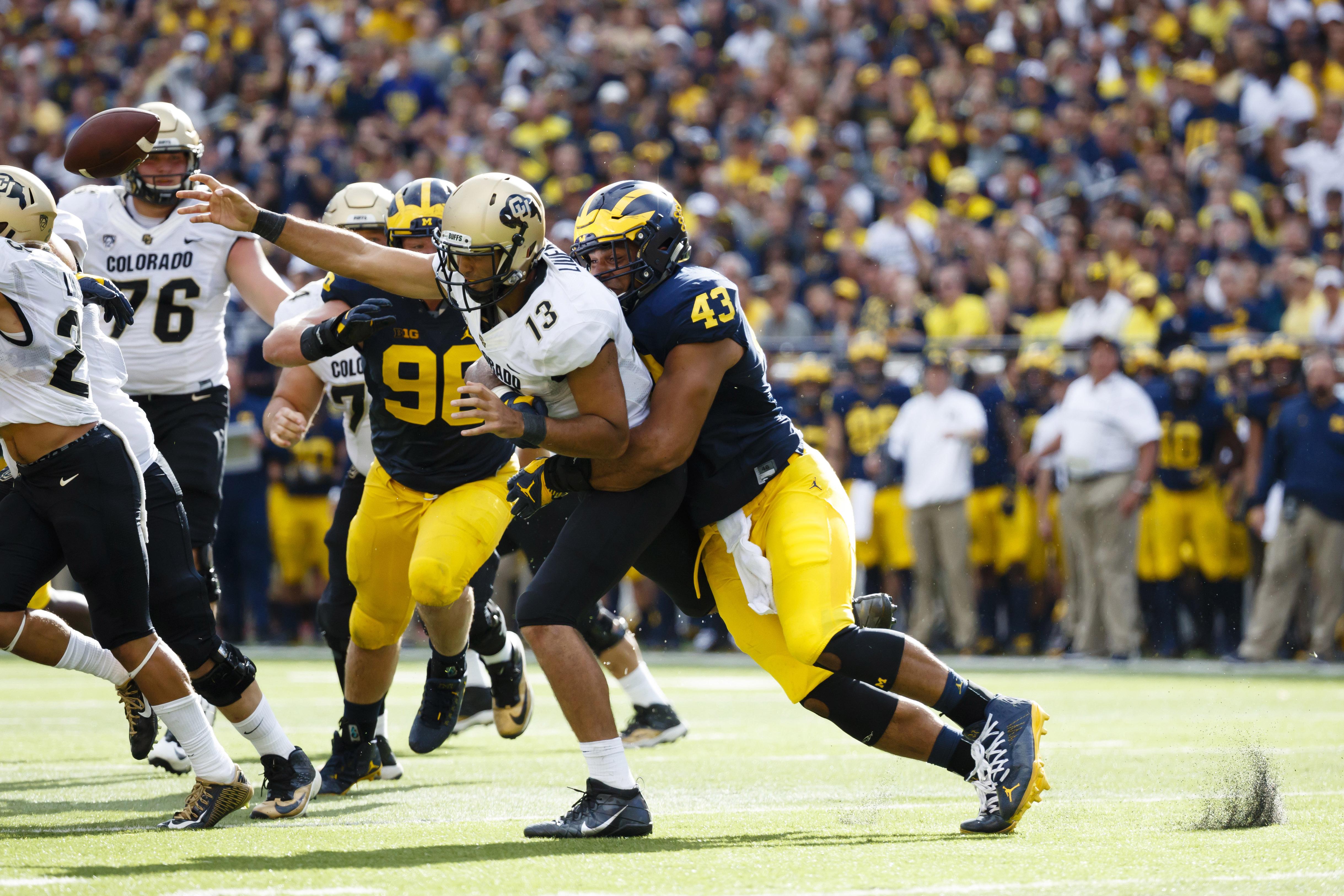 NCAA Football: Colorado at Michigan