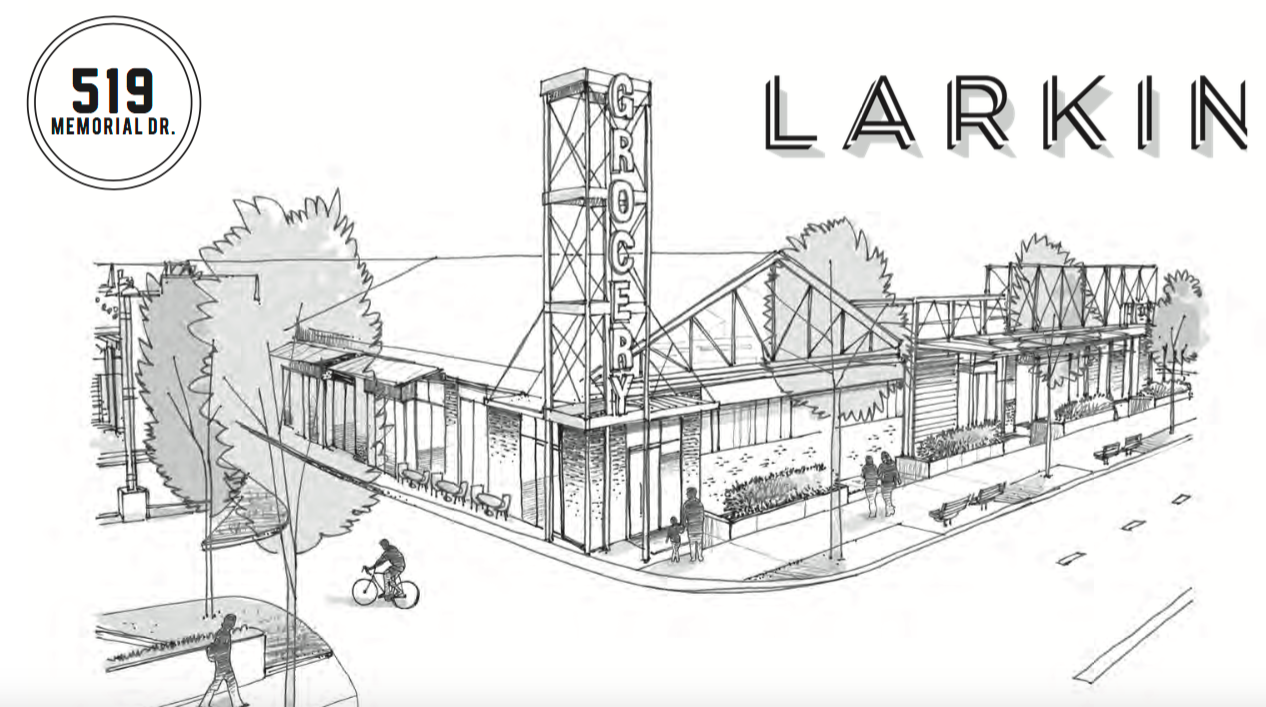 A rendering of the upcoming Larkin on Memorial Project in Grant Park Atlanta.