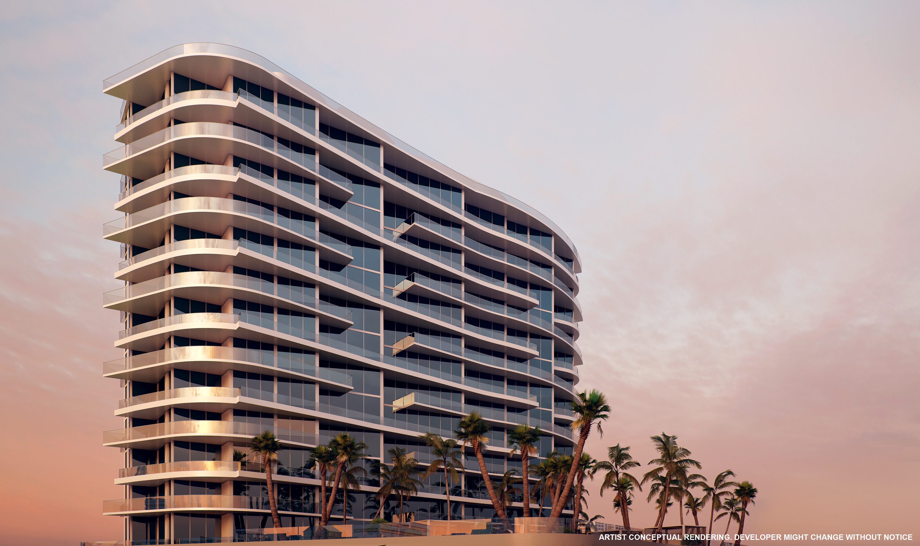 an exterior of a new luxury condo in sunny iles