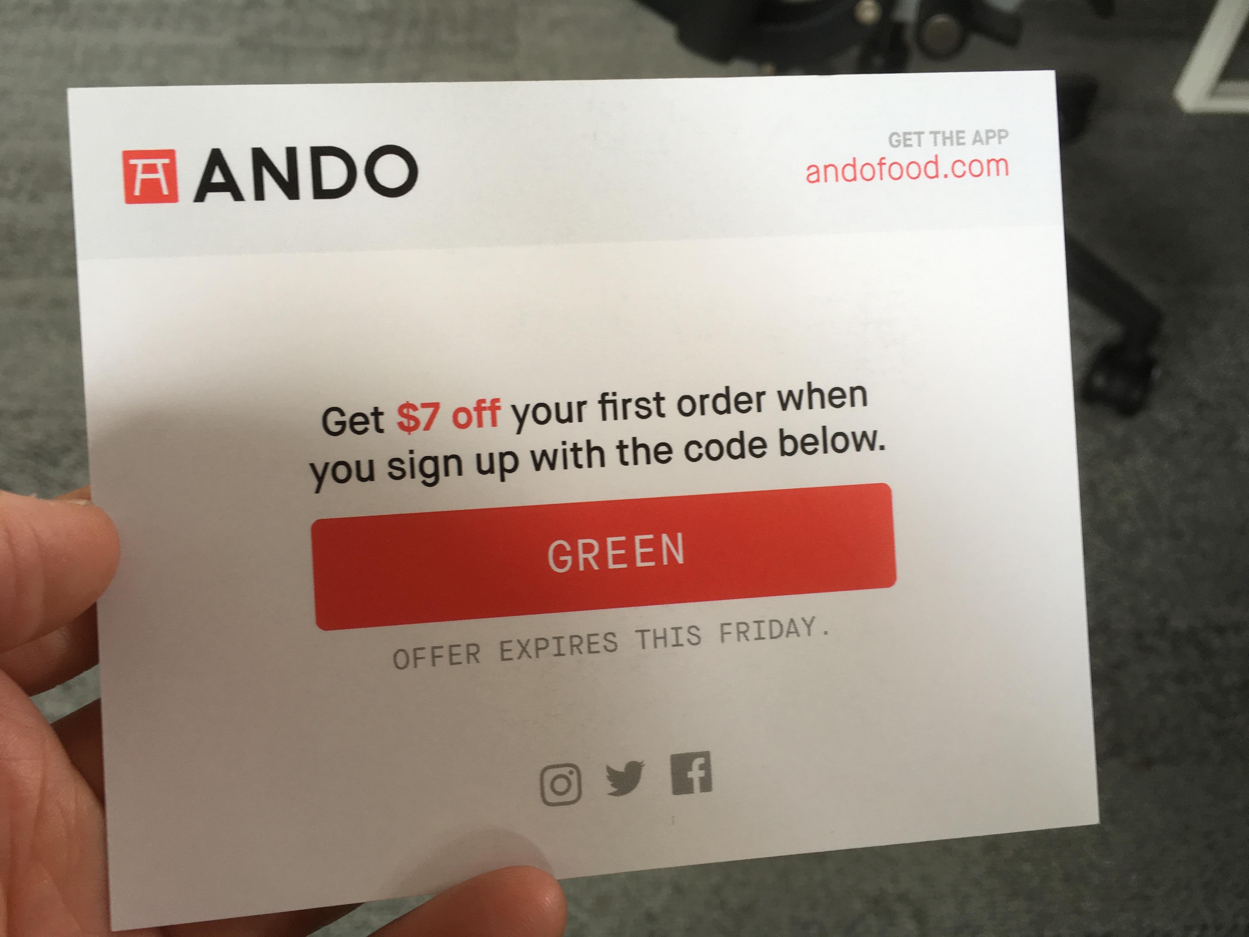 Ando coupon