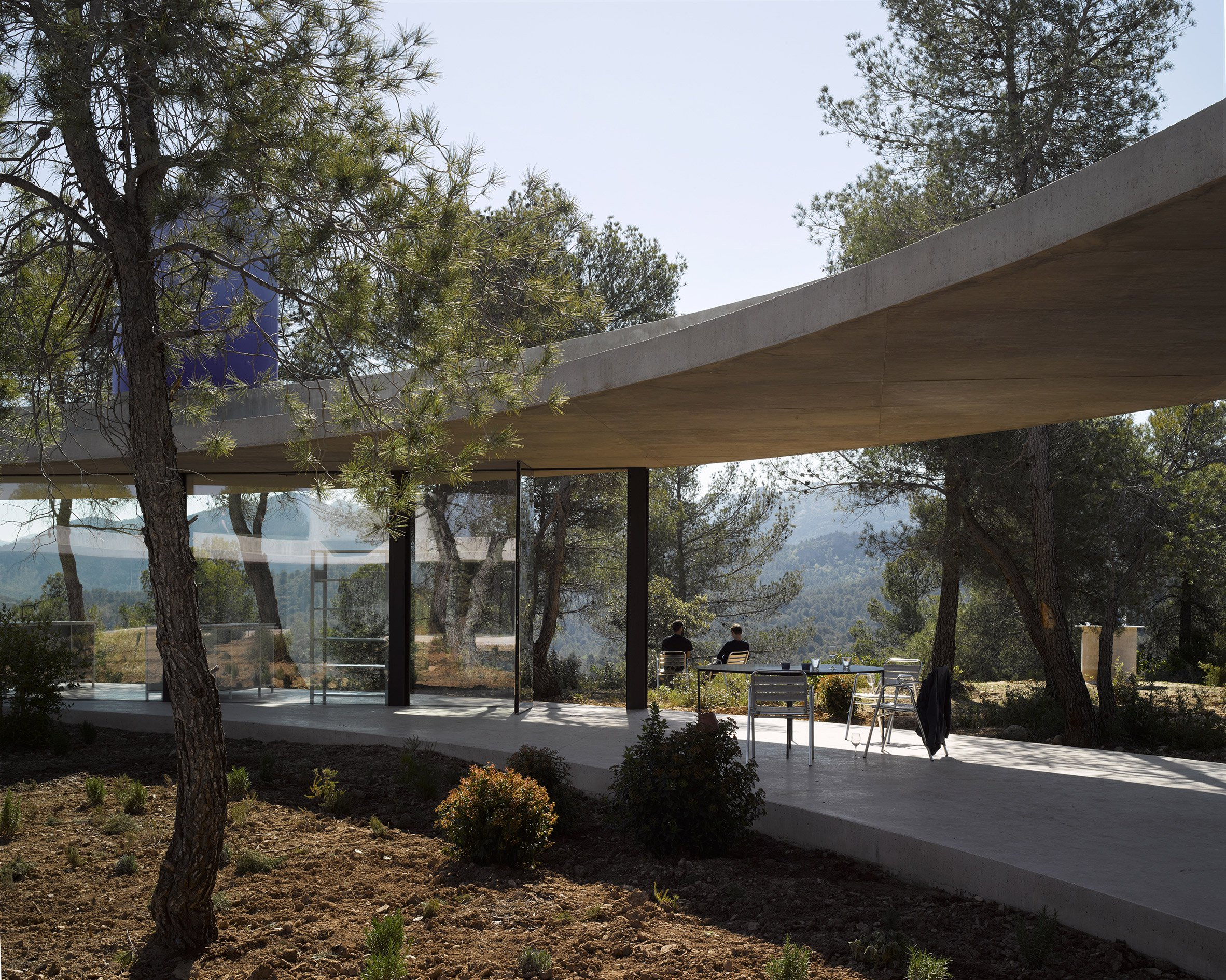 Off-grid modern house is a ring-shaped forest escape