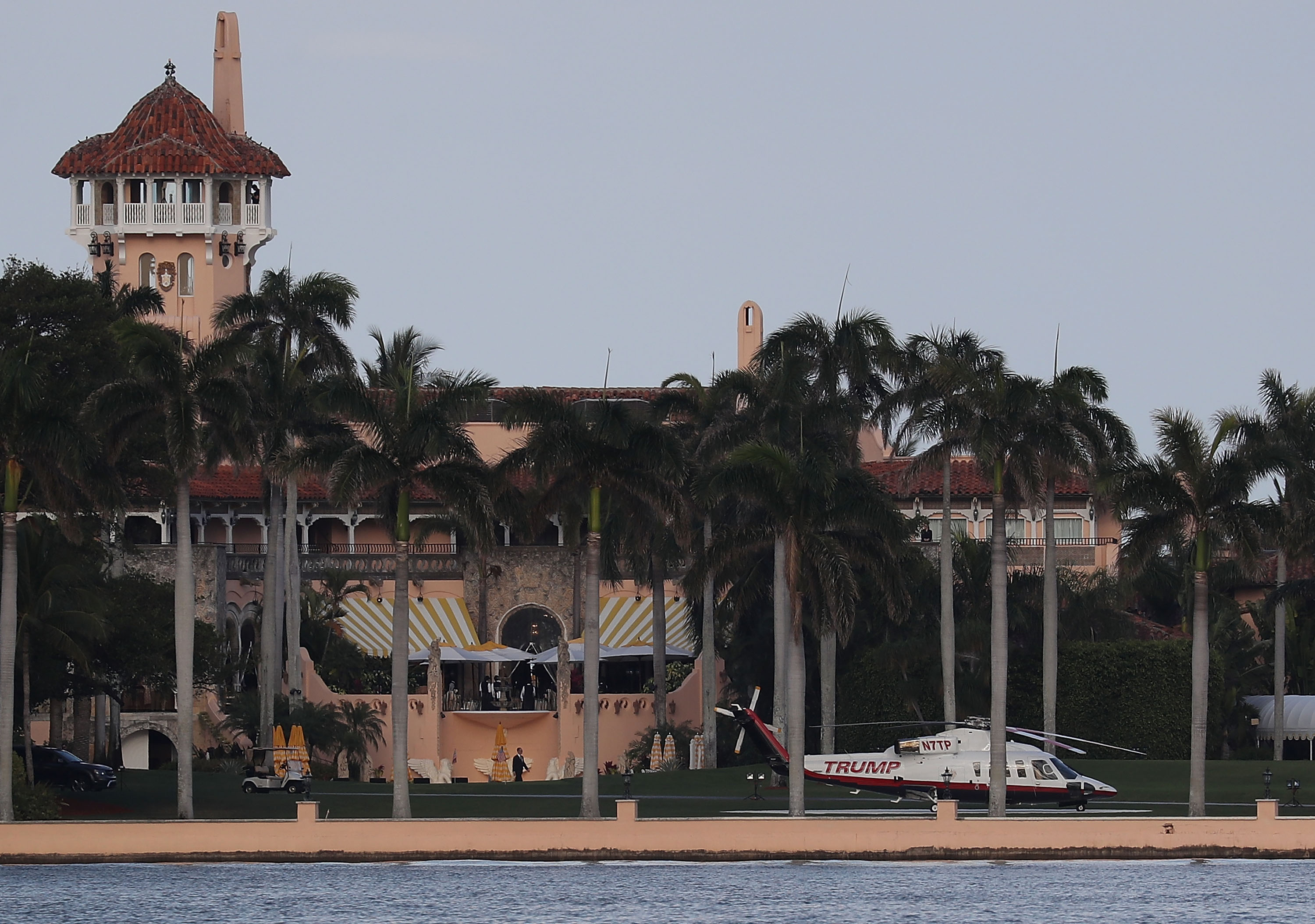 Mar-a-Lago has a sinkhole. They're a serious problem in Florida.