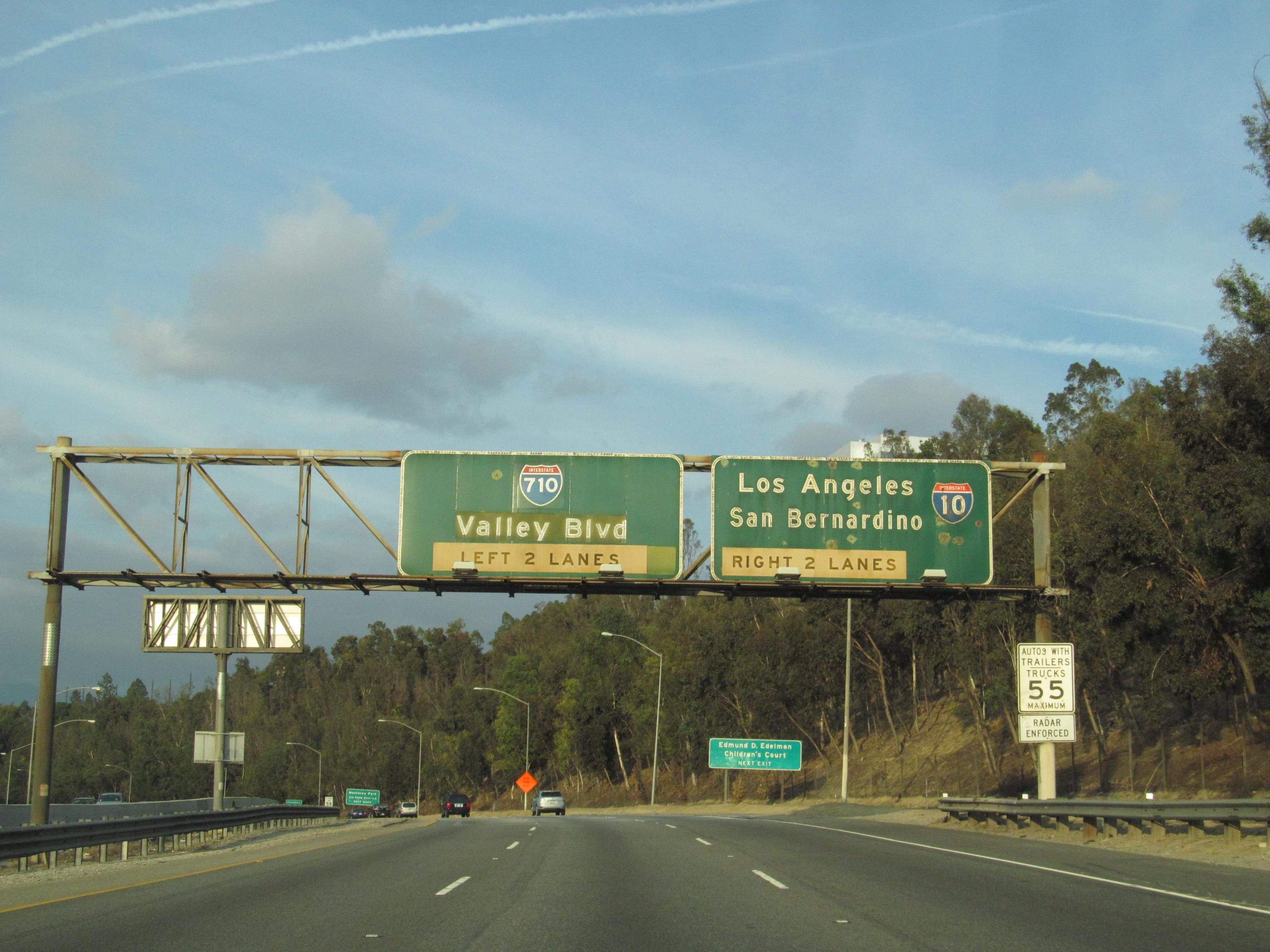 The ending stretch of the 710