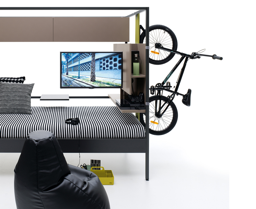 Customizable 'Nook' bed can be for sleep, work, and play