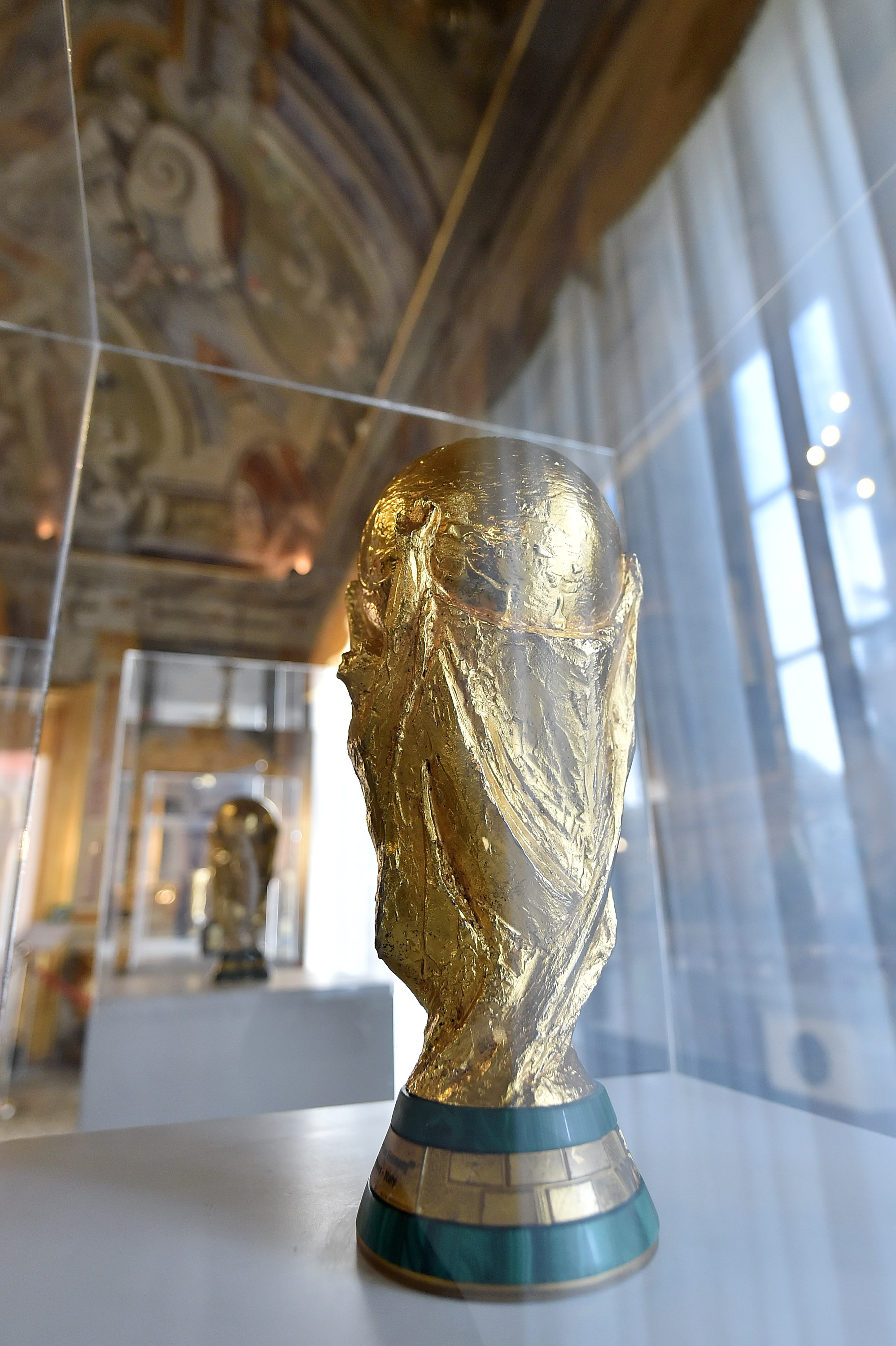 Italian Football Federation Trophies And Memorabilia Are Displayed In Palermo