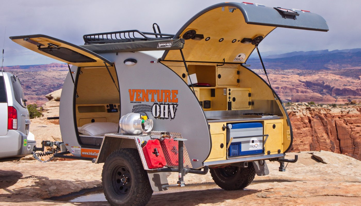 Lightweight teardrop trailer can be customized for your adventure